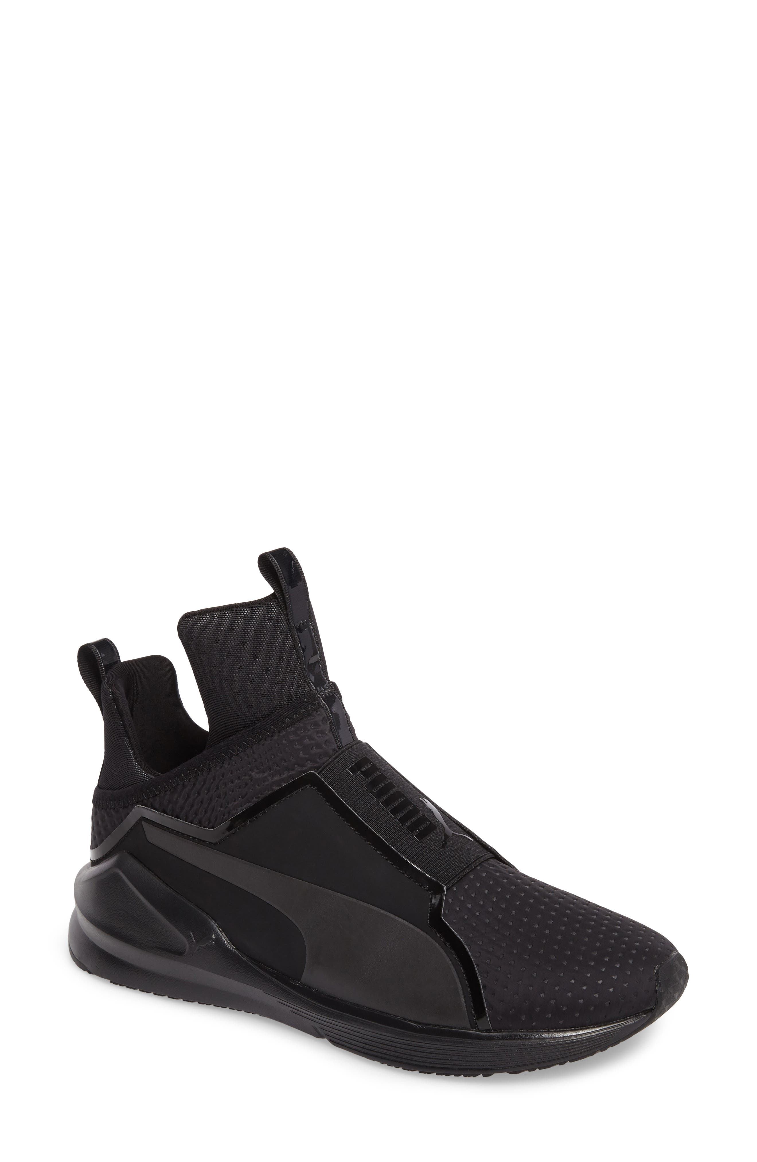 'Fierce Core' High Top Sneaker,                         Main,                         color, Onyx Black