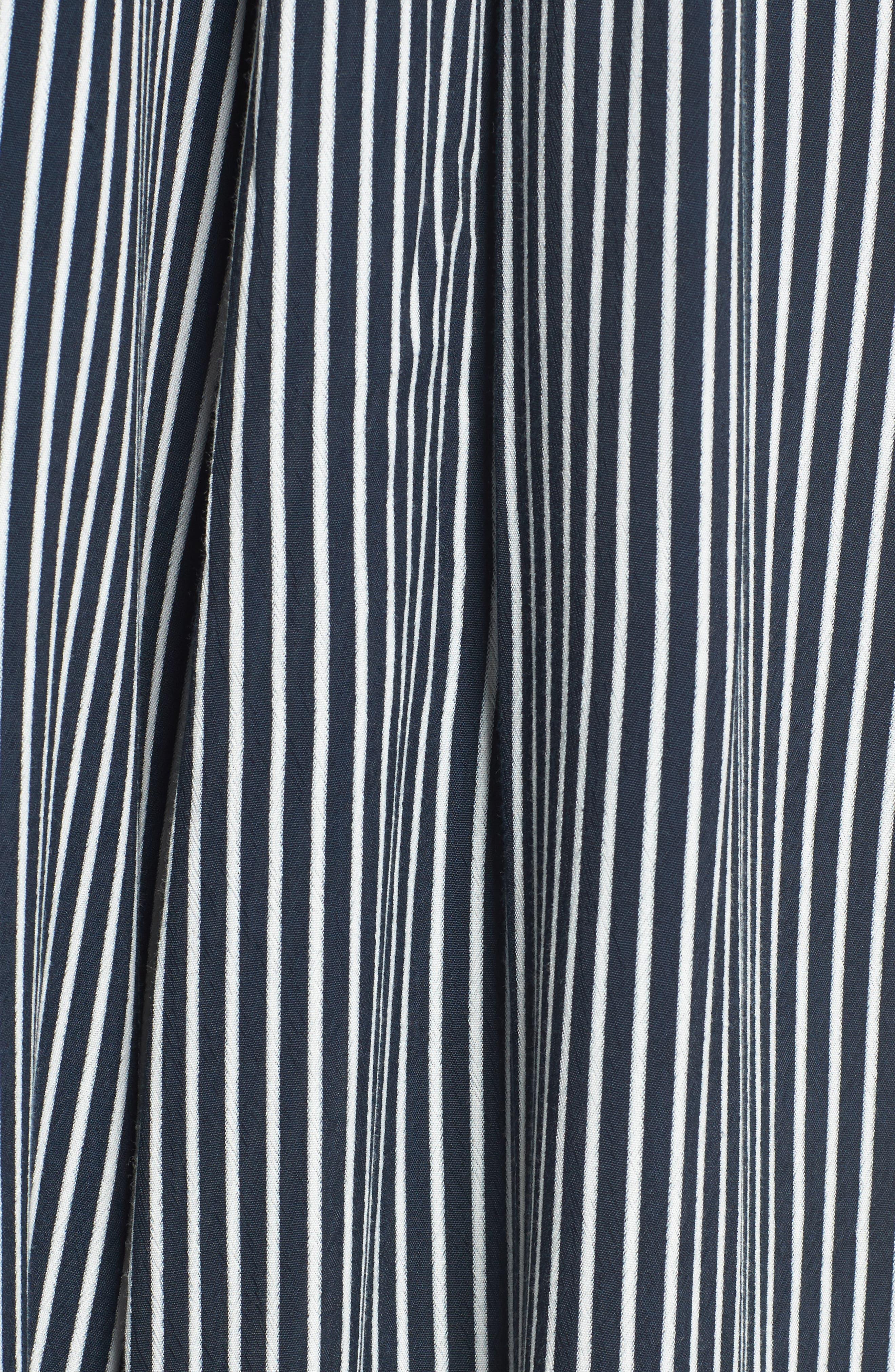 Riley Stripe Halter Jumpsuit,                             Alternate thumbnail 6, color,                             Cap Maison Stripe Print