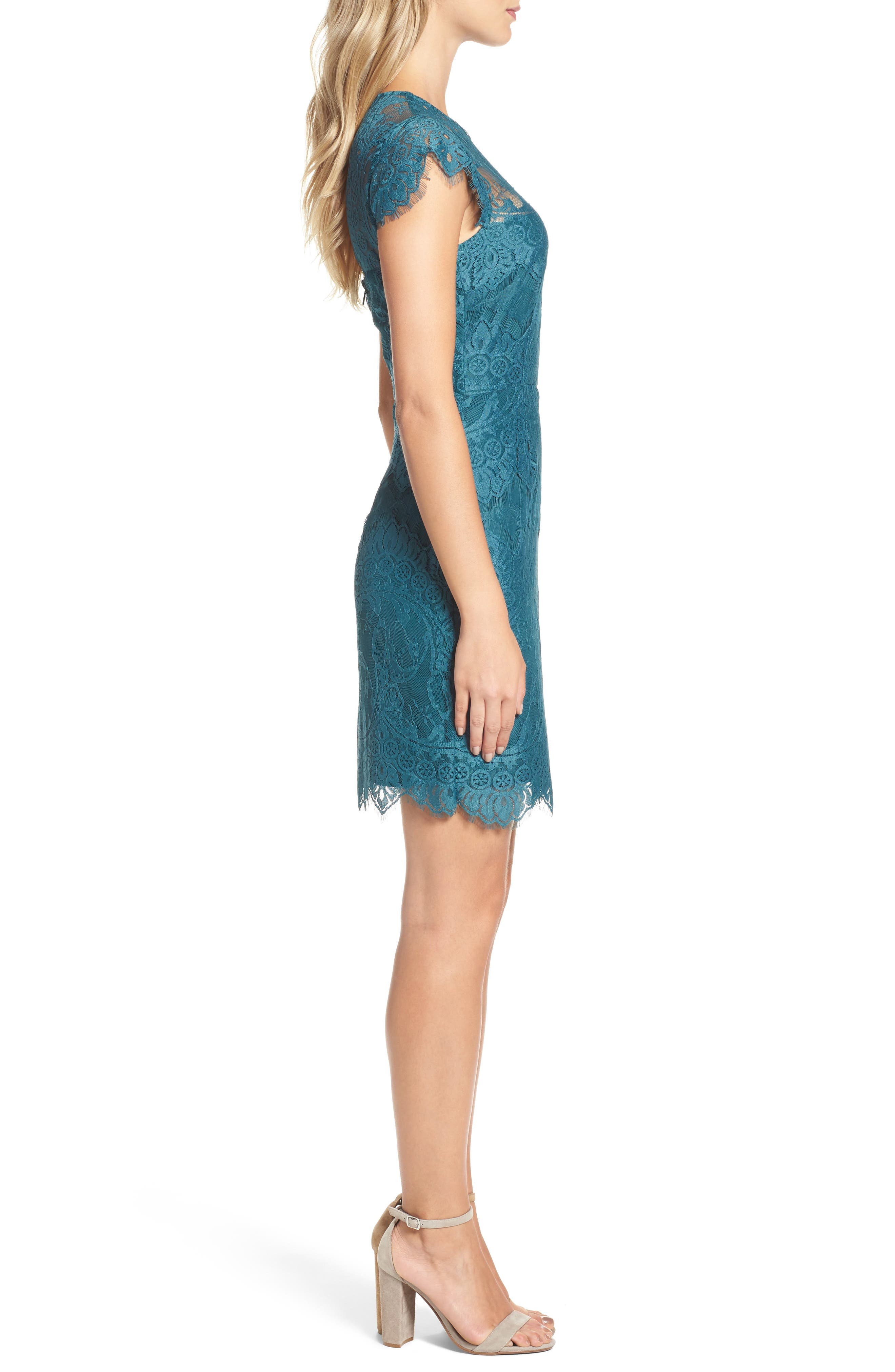 Alternate Image 3  - BB Dakota Jayce Lace Sheath Dress