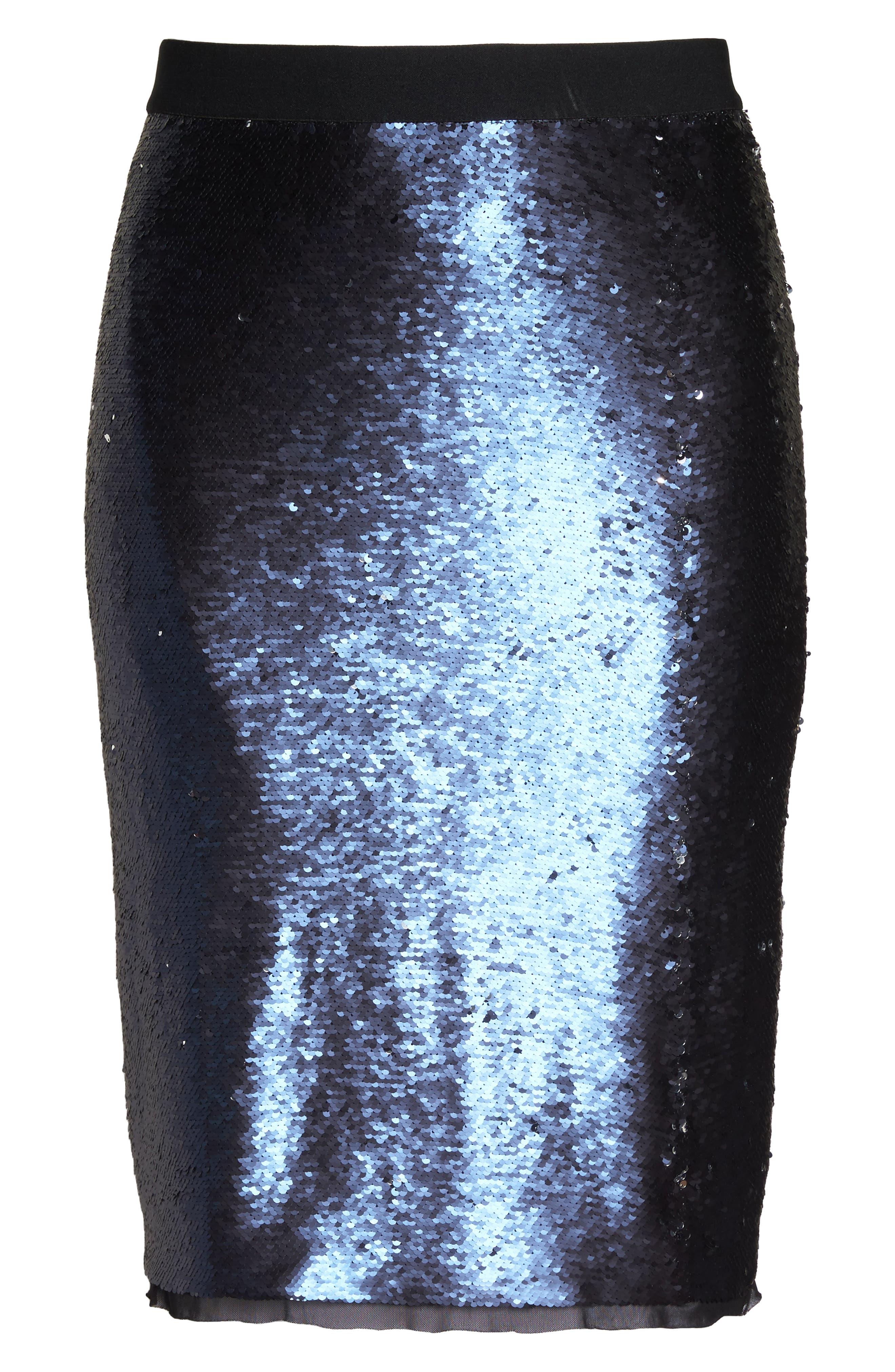 Alternate Image 6  - Rebel Wilson x Angels Sequin Mesh Pencil Skirt (Plus Size)