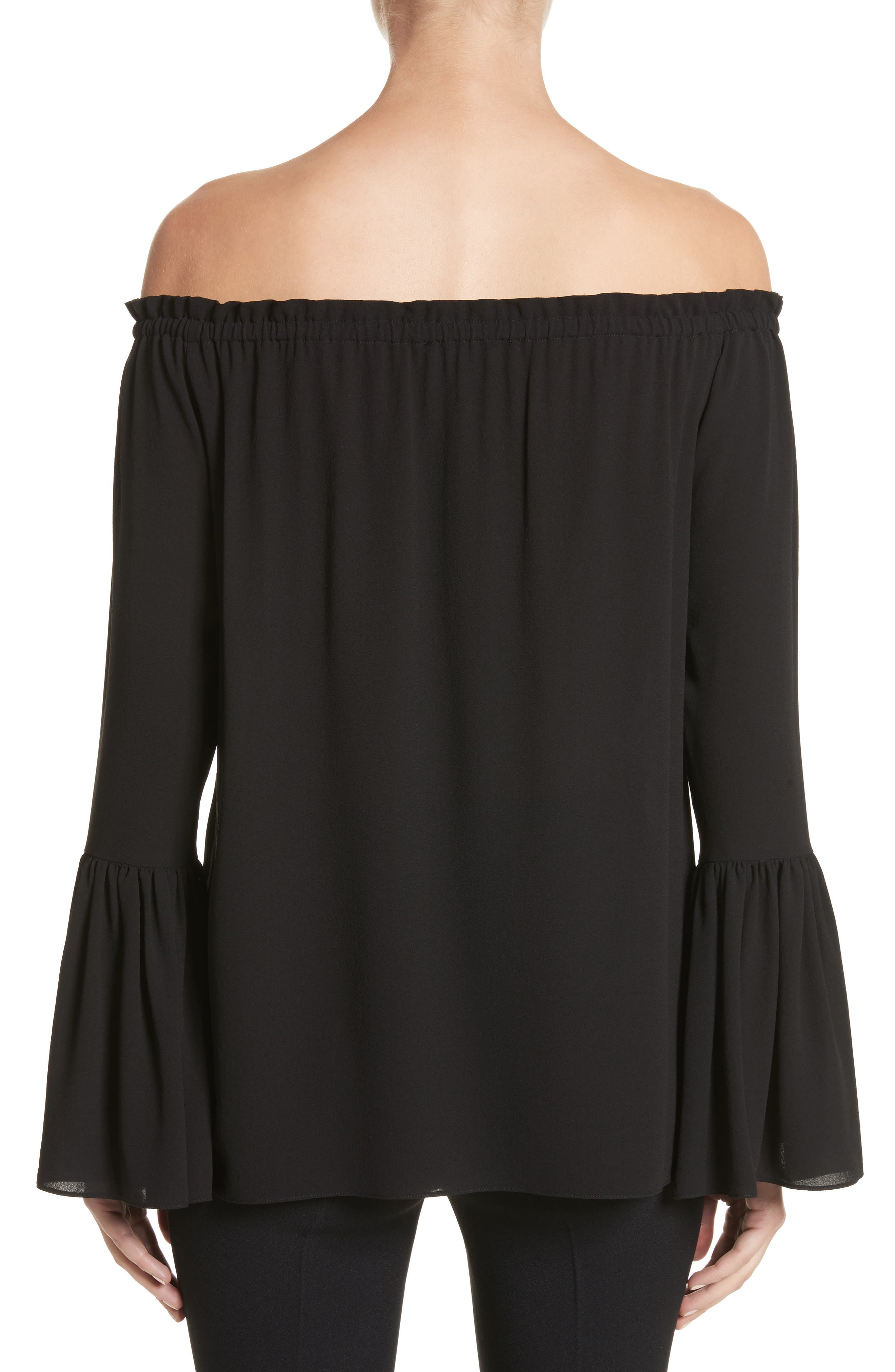 Alternate Image 2  - Michael Kors Silk Georgette Off the Shoulder Top