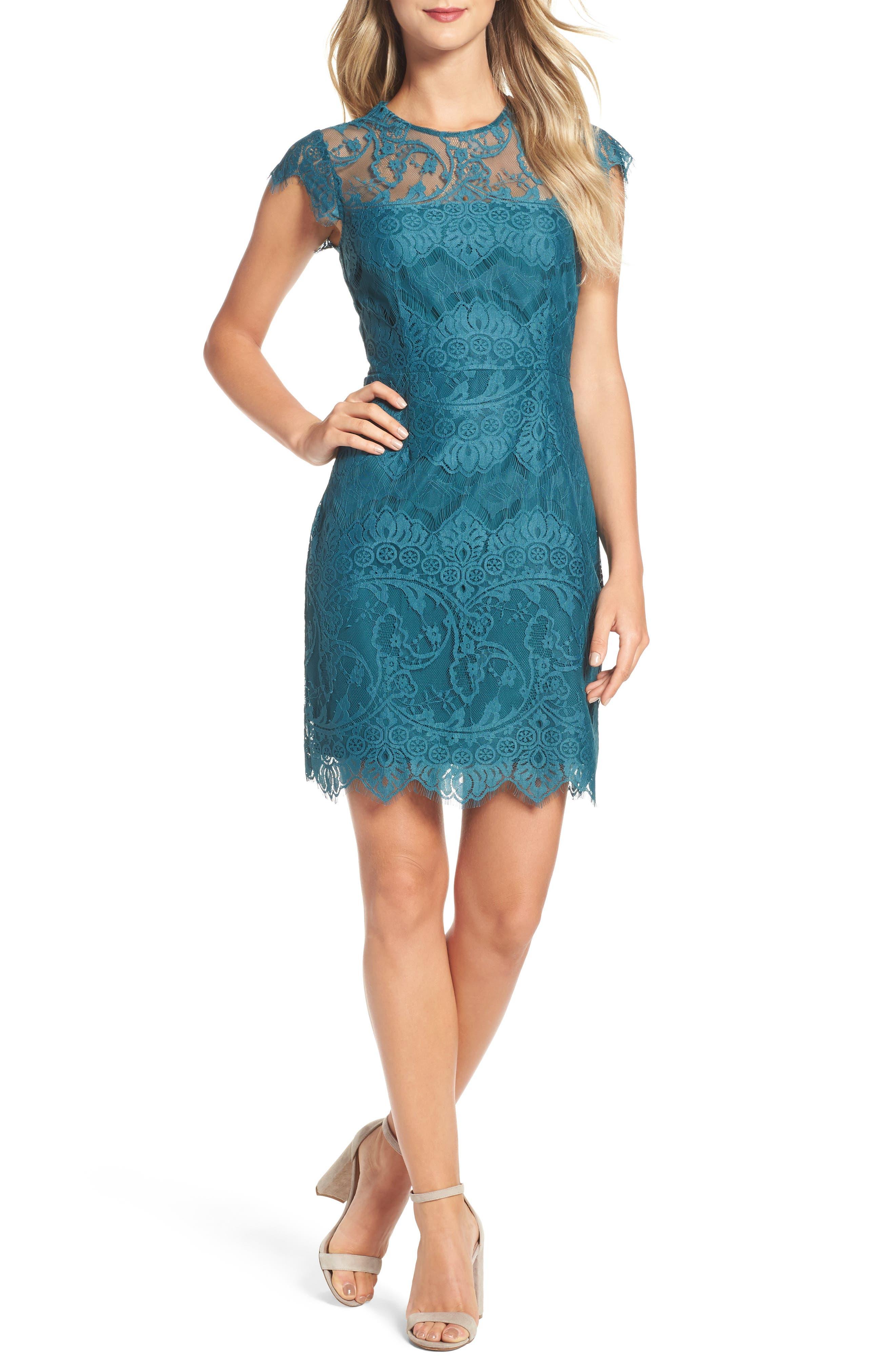 Alternate Image 1 Selected - BB Dakota Jayce Lace Sheath Dress