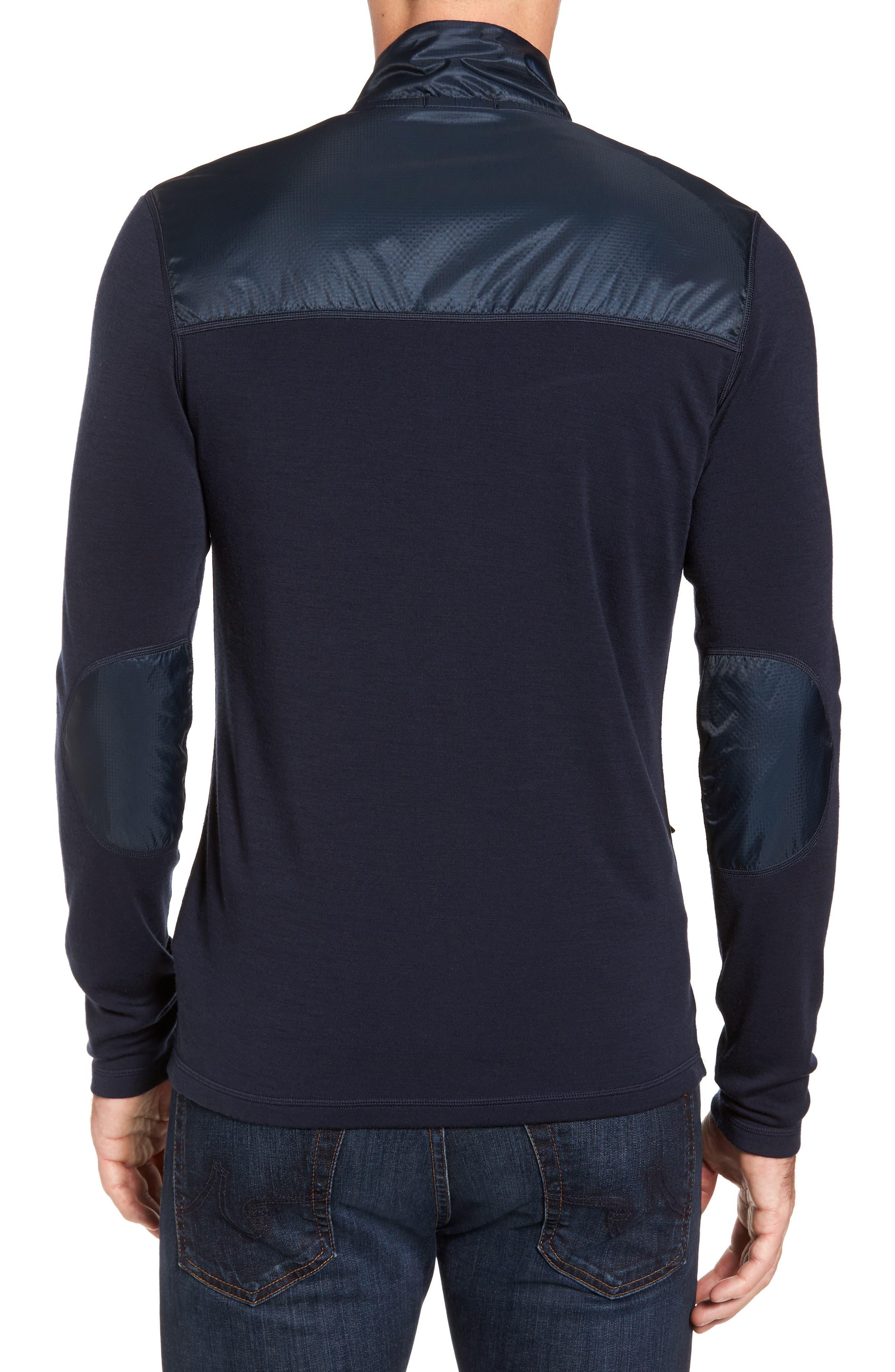 250 Sport Merino Wool Zip Jacket,                             Alternate thumbnail 2, color,                             Deep Navy