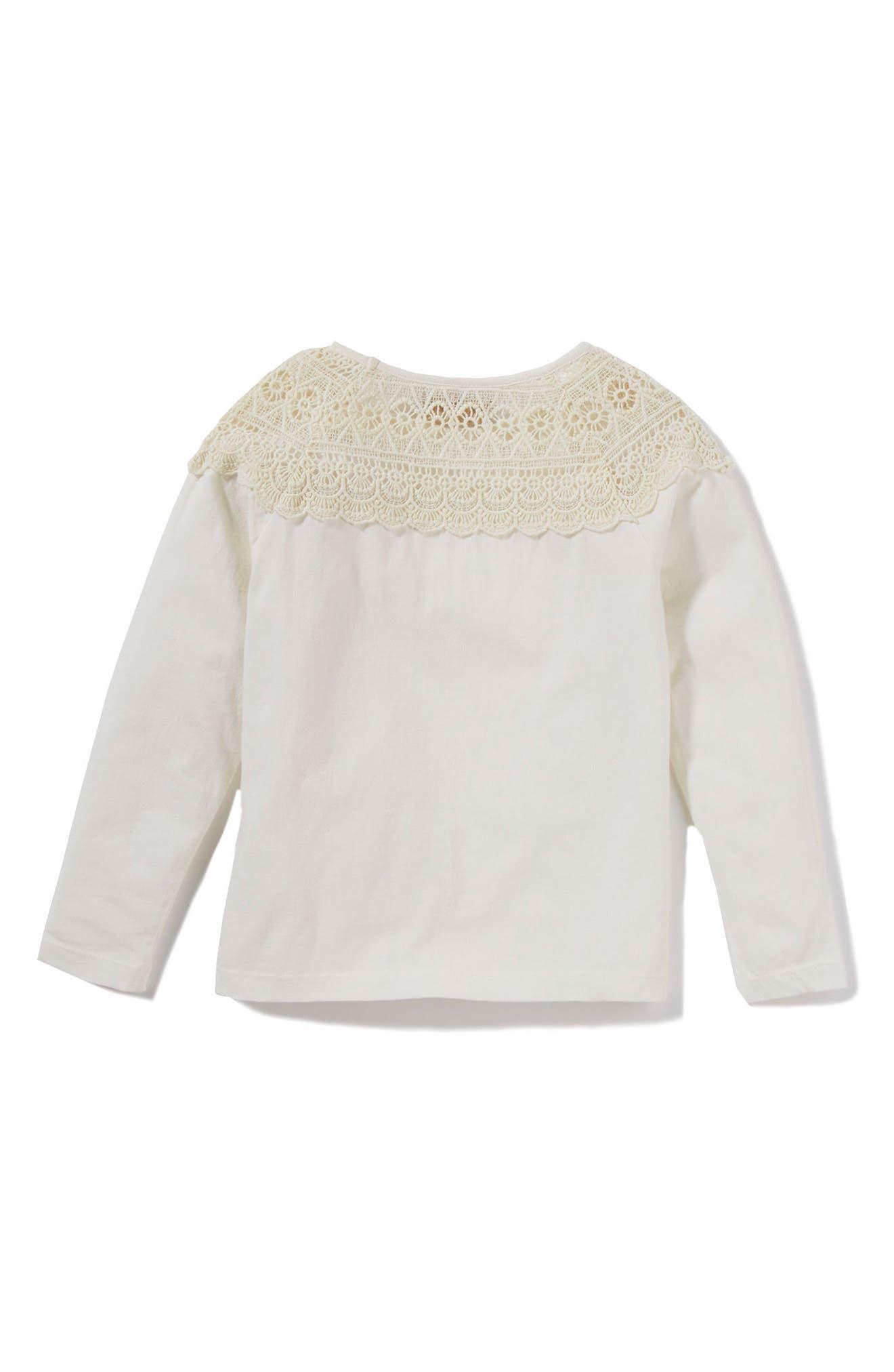 Peek Tiffany Crochet Yoke Tee (Toddler Girls, Little Girls & Big Girls)