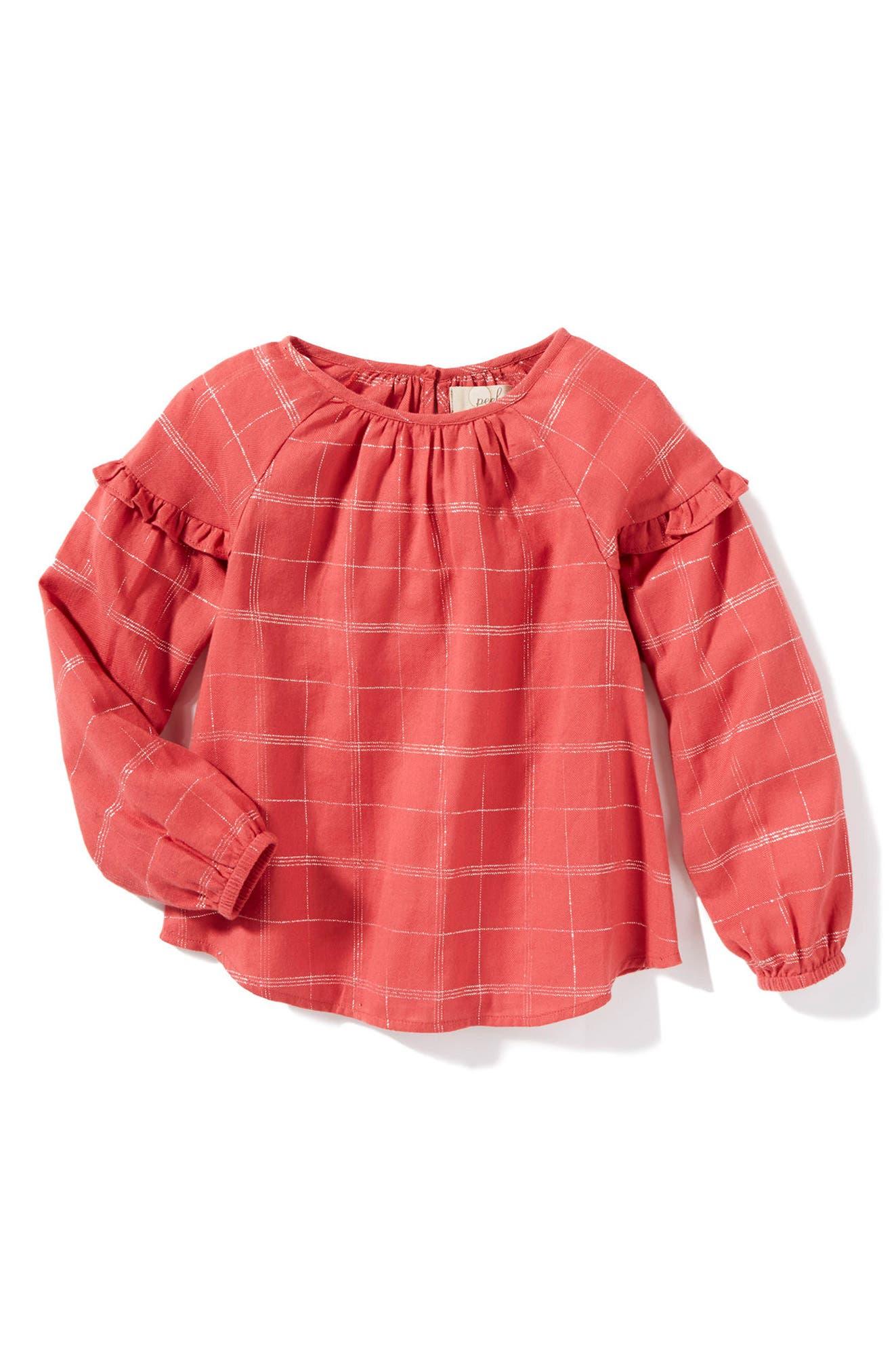 Alternate Image 1 Selected - Peek Bita Woven Top (Toddler Girls, Little Girls & Big Girls)