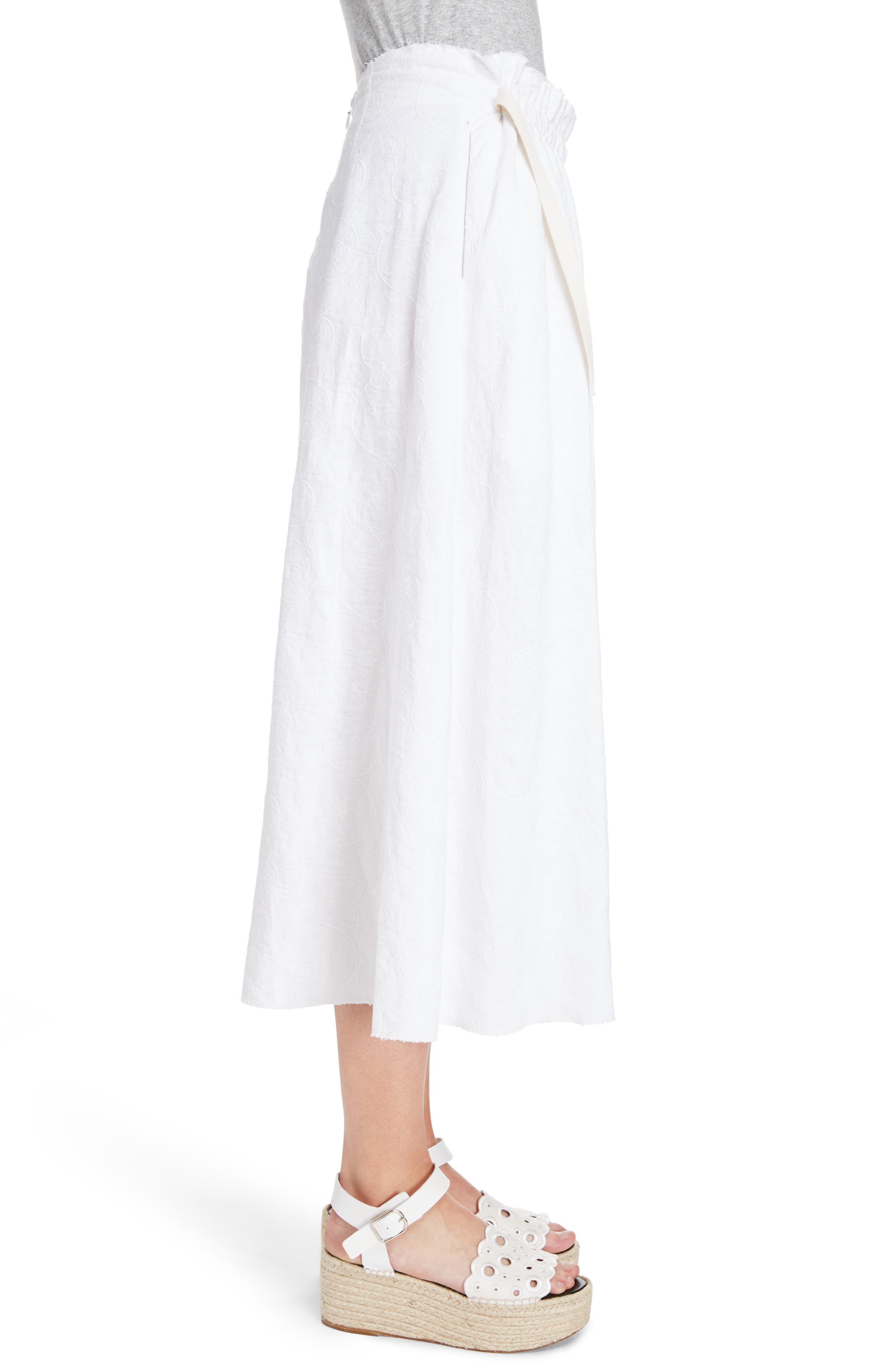 Alternate Image 3  - Loewe Drawstring Waist Broderie Anglaise Skirt