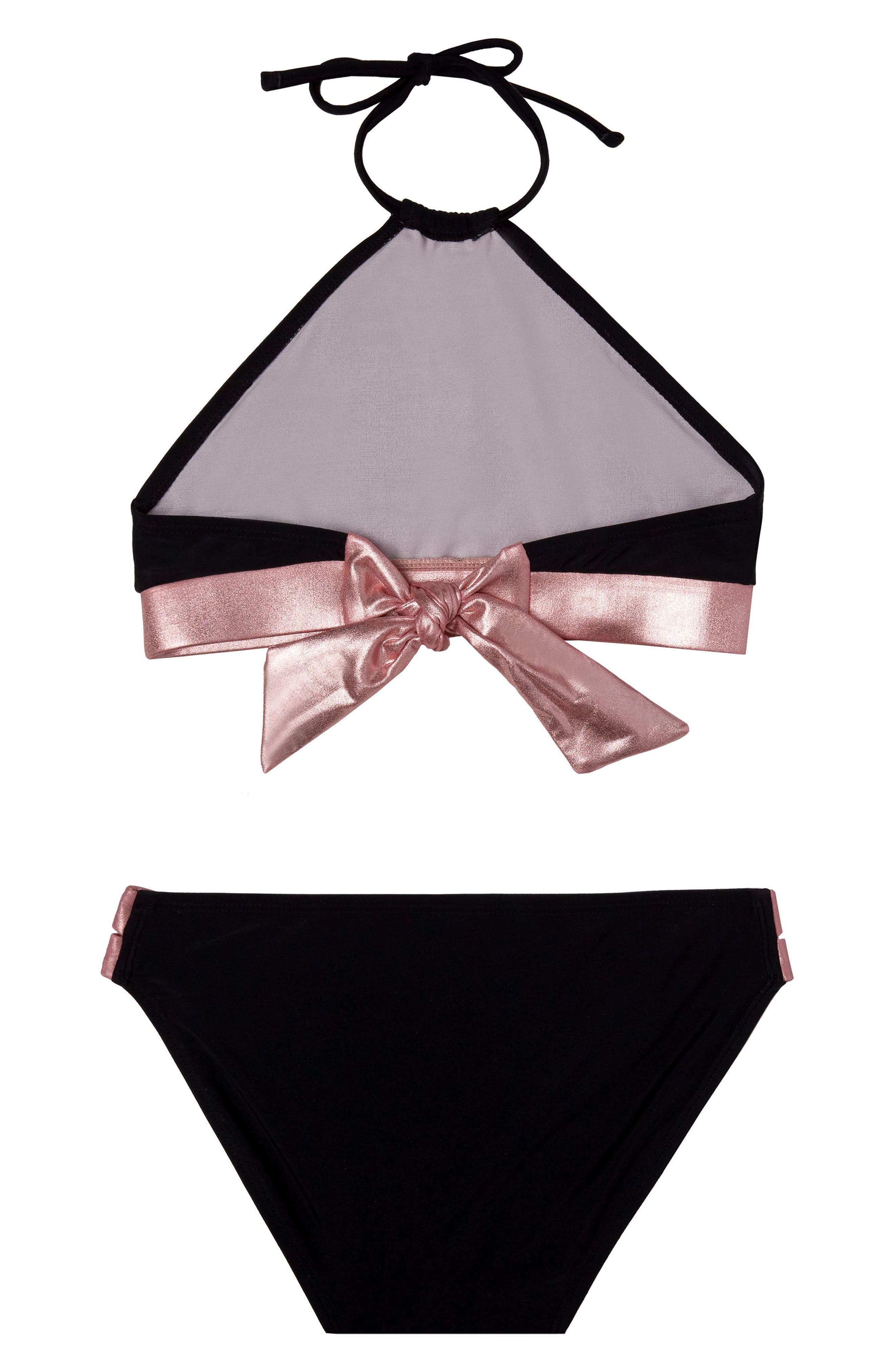 Beach Bound Two-Piece Swimsuit,                             Alternate thumbnail 2, color,                             Black