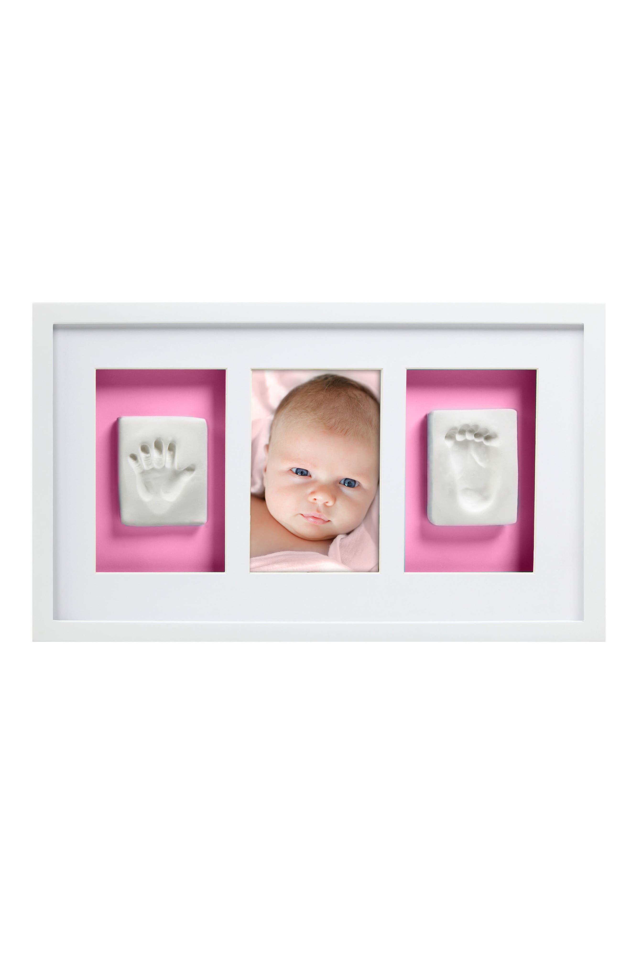 Babyprints Deluxe Wall Frame Kit,                             Alternate thumbnail 2, color,                             White