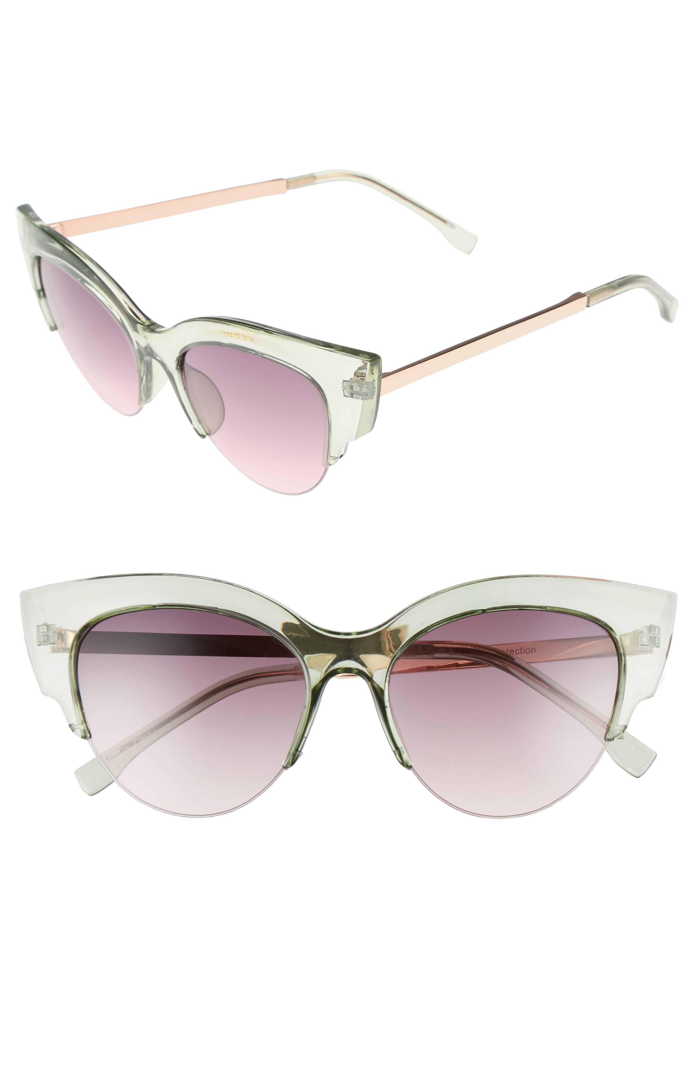 BP. 50mm Plastic Cat Eye Sunglasses
