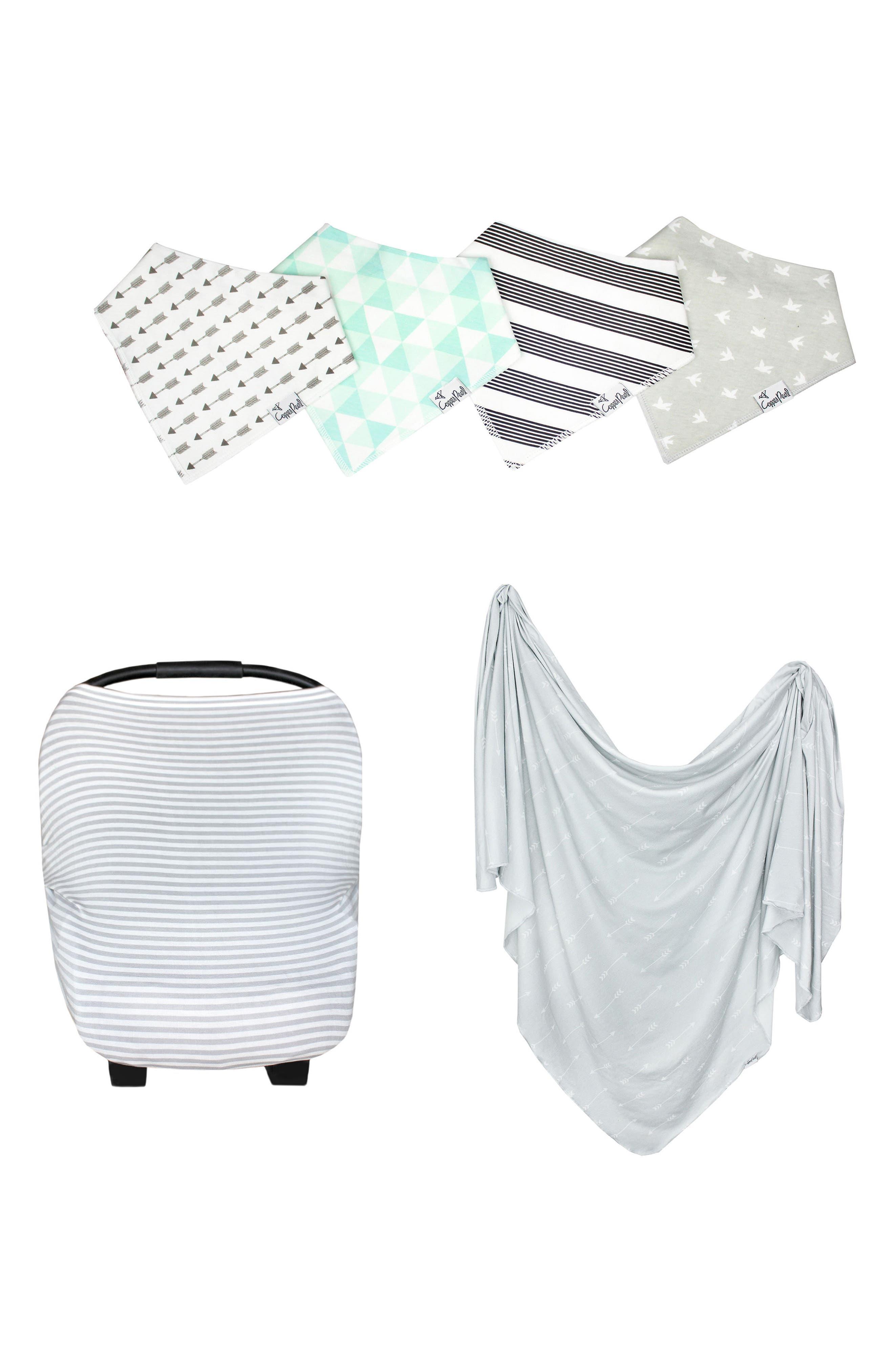 Summit Bib, Multiuse Cover & Swaddle Blanket Gift Set,                         Main,                         color, Summit