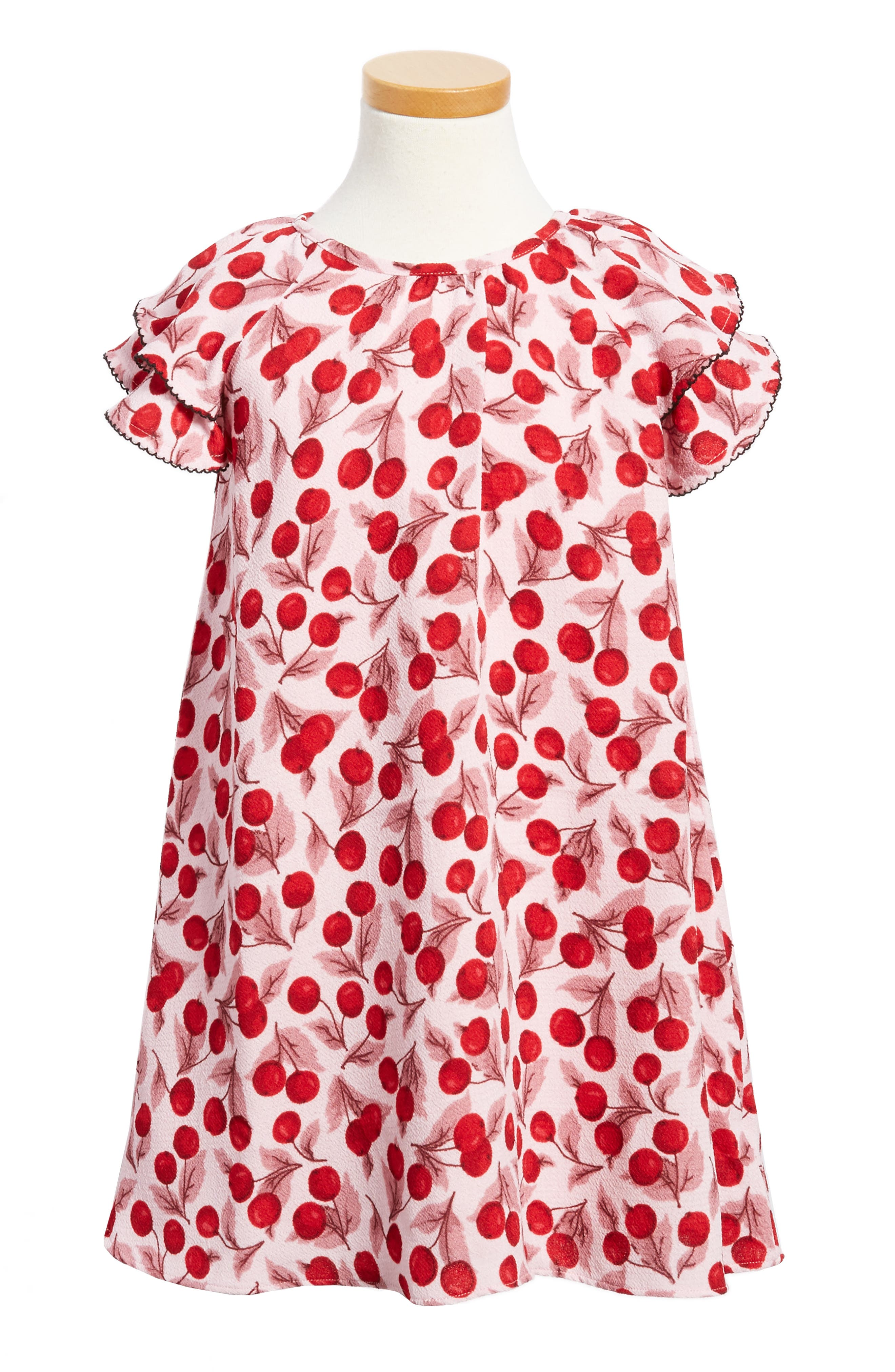 Alternate Image 1 Selected - kate spade new york cherry print flutter sleeve dress (Toddler Girls & Little Girls)