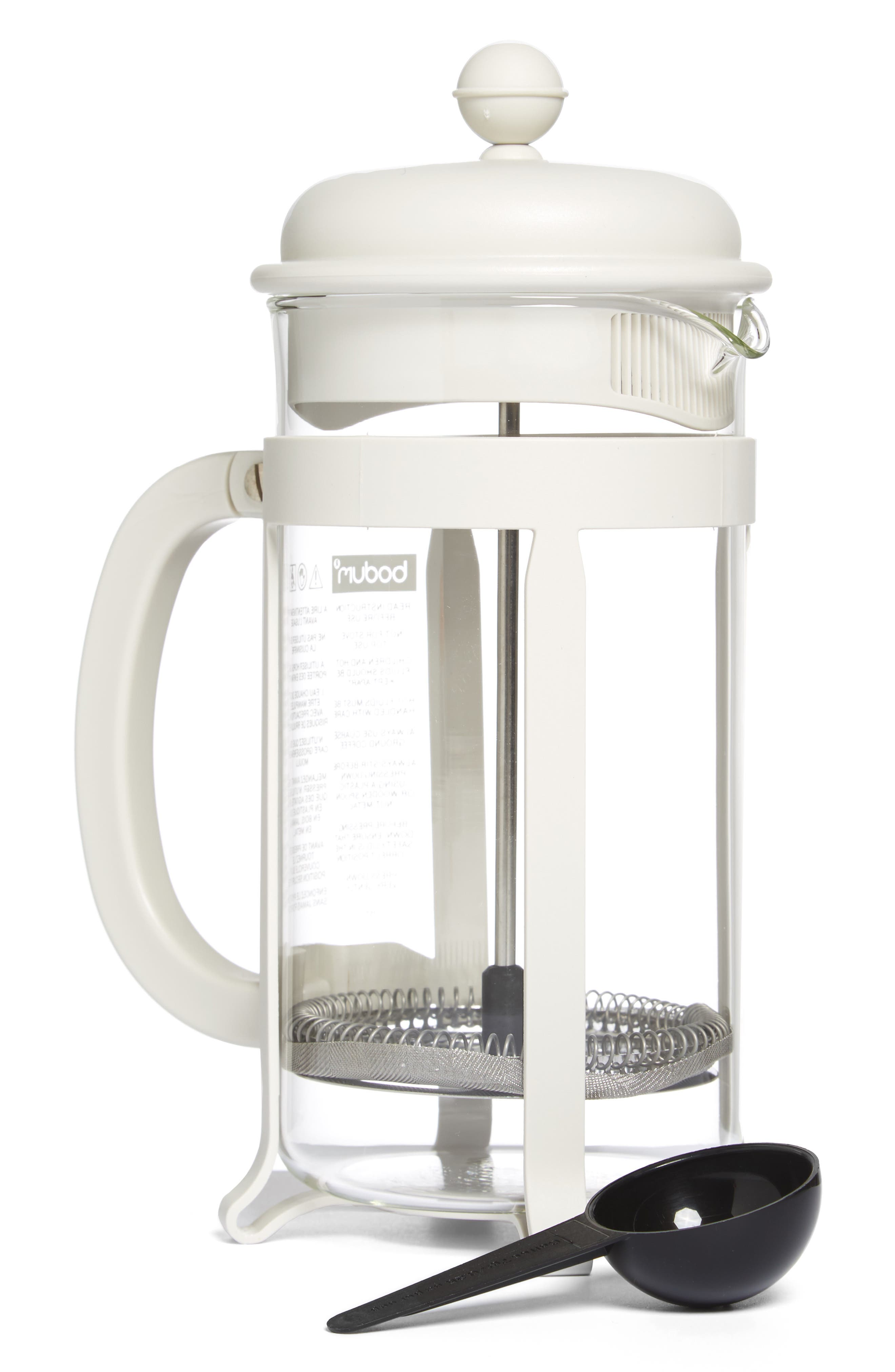 Java French Press Coffee Maker,                             Main thumbnail 1, color,                             Off White