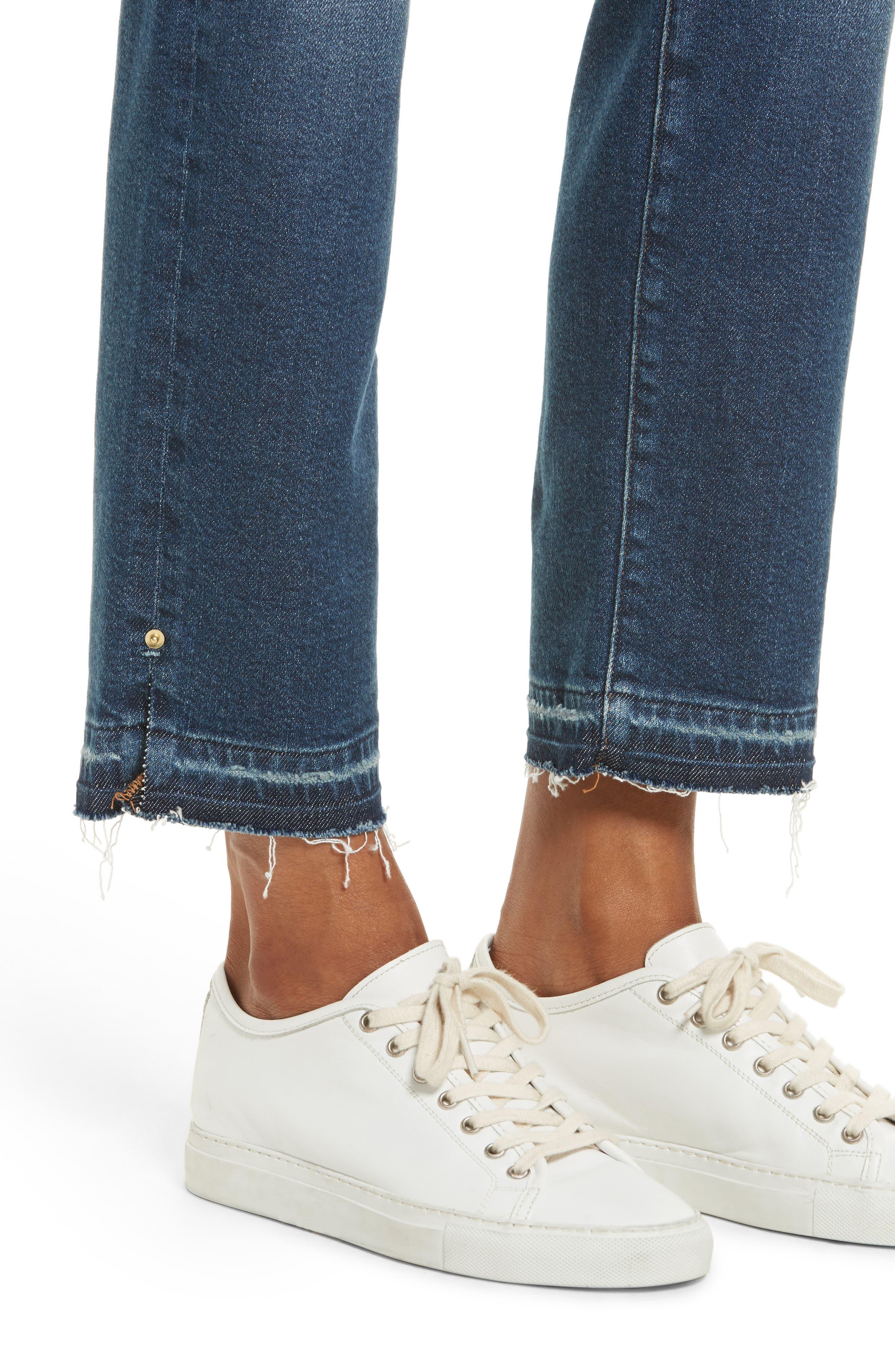Alternate Image 5  - FRAME High Waist Released Hem Crop Jeans (Granby)