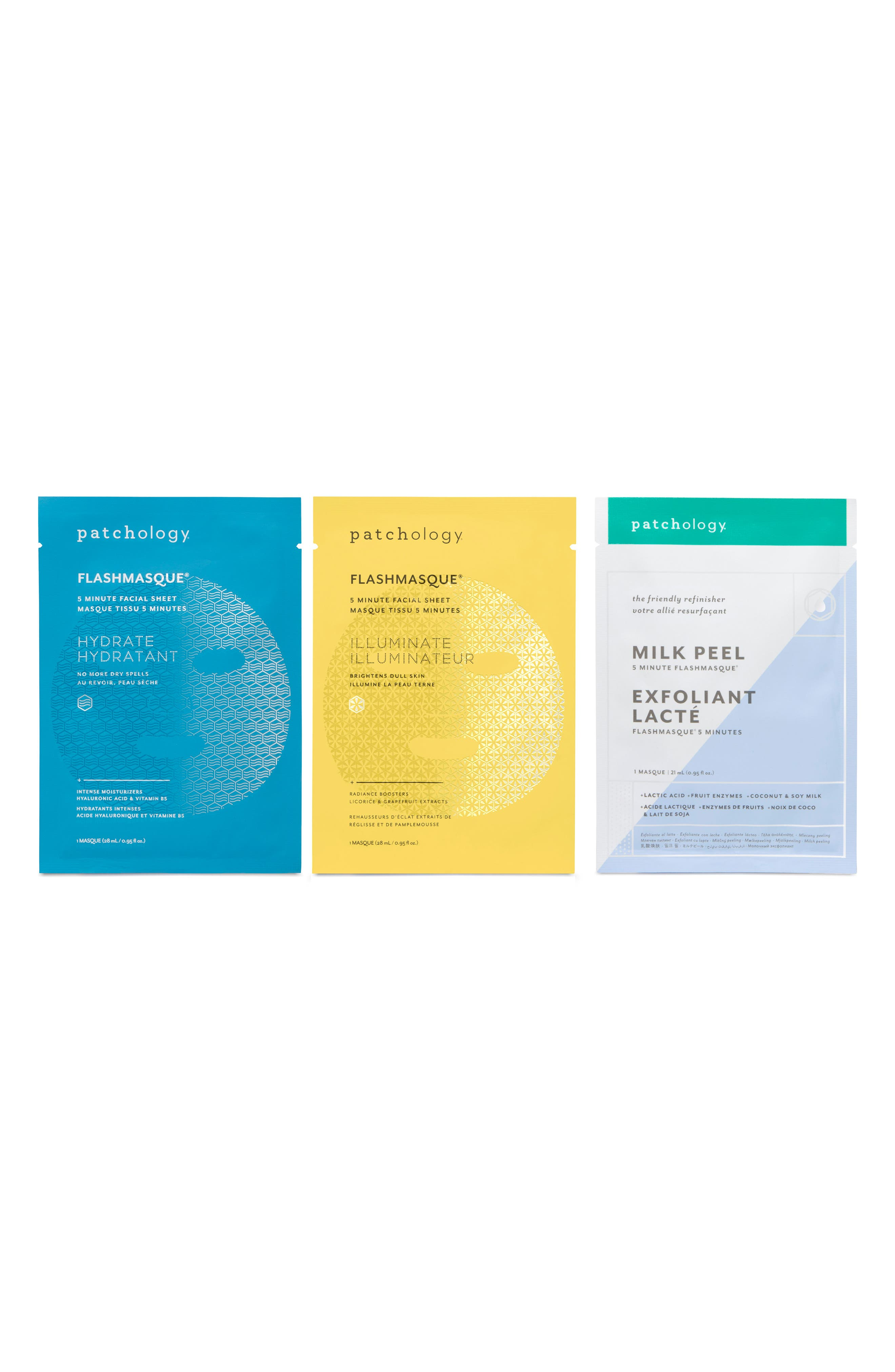 Main Image - patchology Perfect Weekend FlashMasque® Facial Sheets