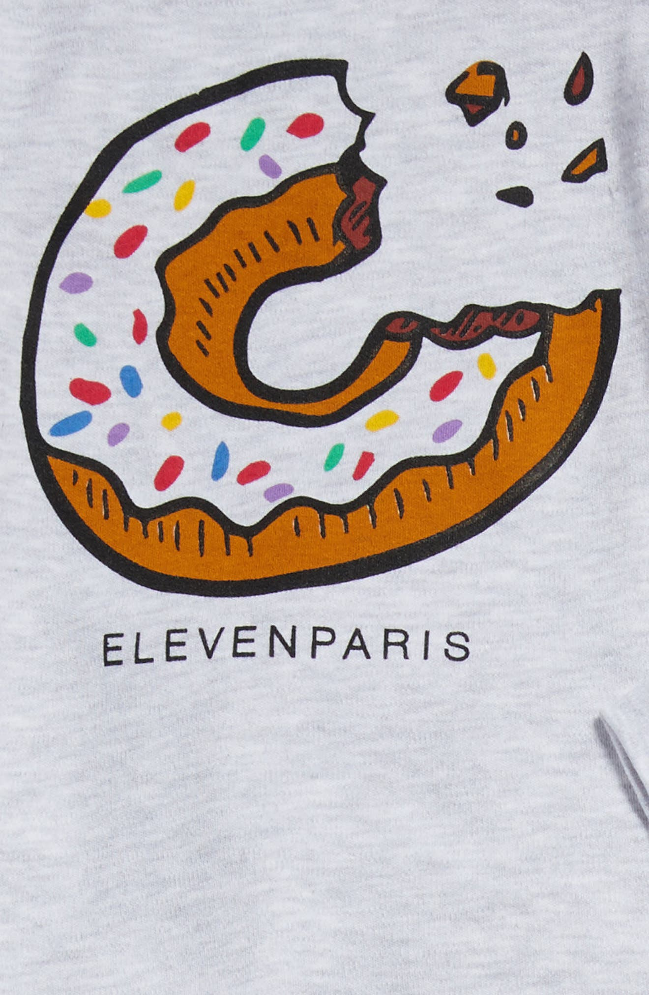 Alternate Image 2  - Little ELEVENPARIS Donut Print Tee, Pants, Bodysuit & Bib Set (Baby Girls)