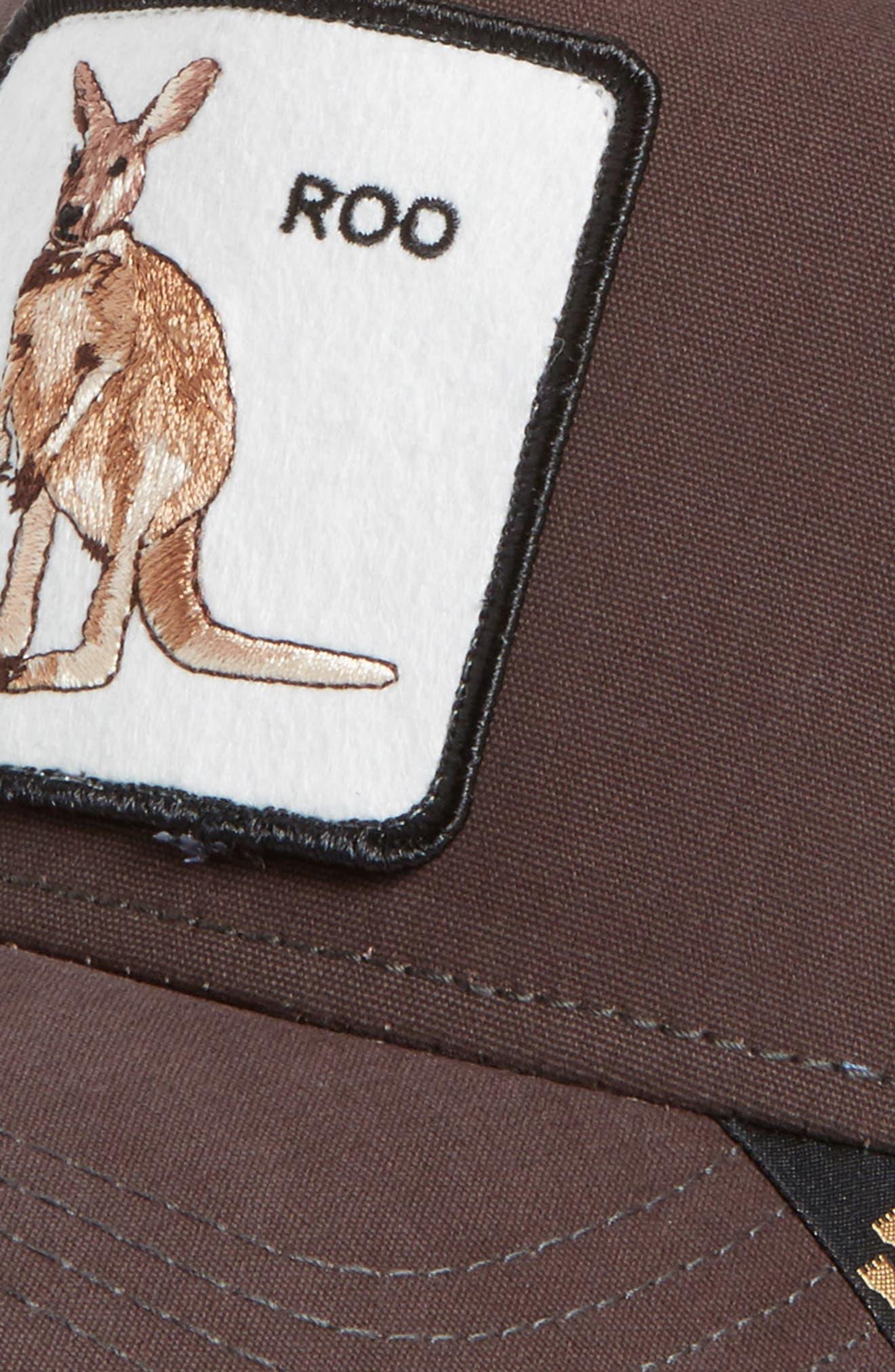 Kangaroo Trucker Hat,                             Alternate thumbnail 3, color,                             Brown