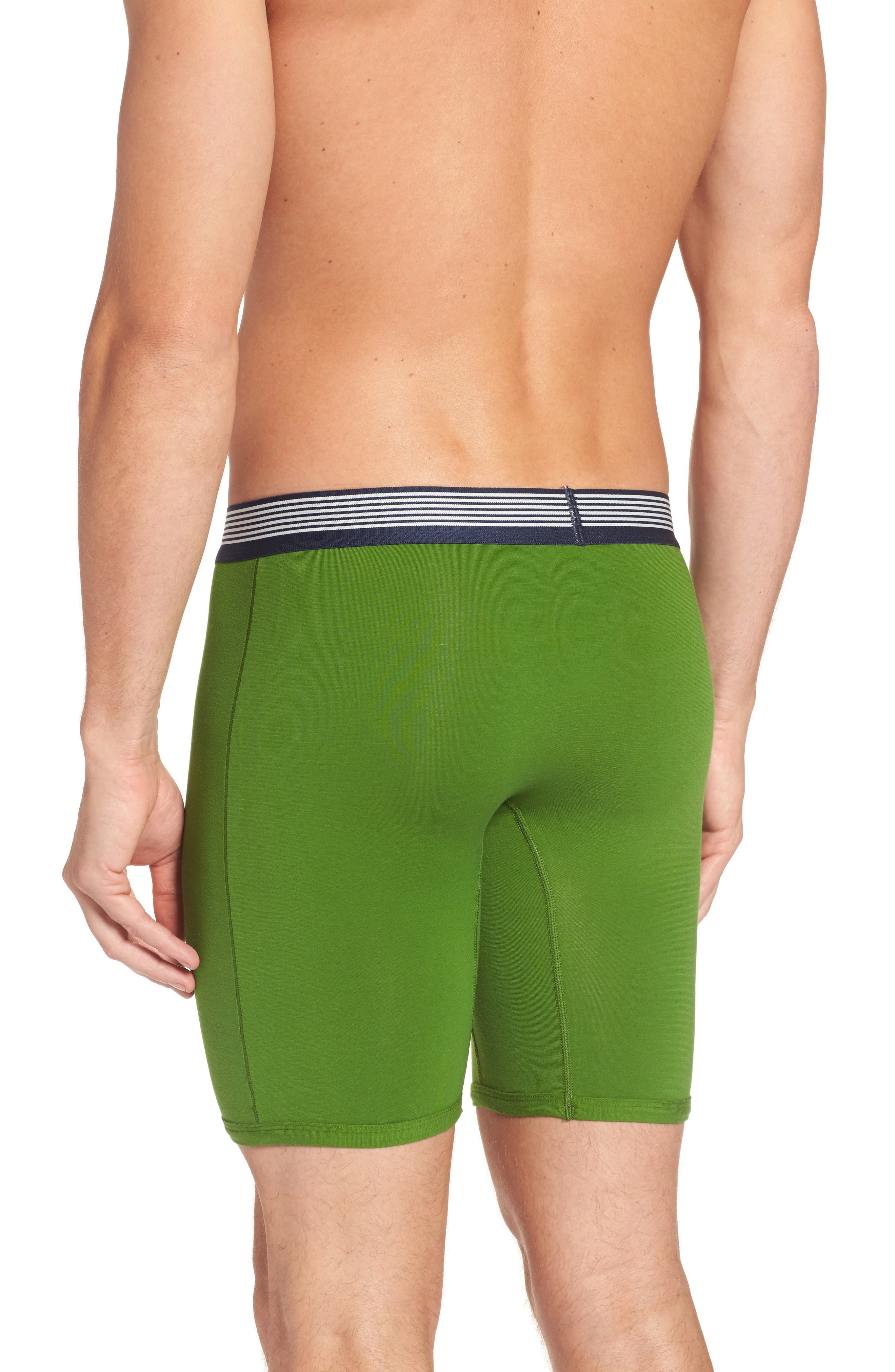 Cool Cotton Armory Boxer Briefs,                             Alternate thumbnail 2, color,                             Grass Green