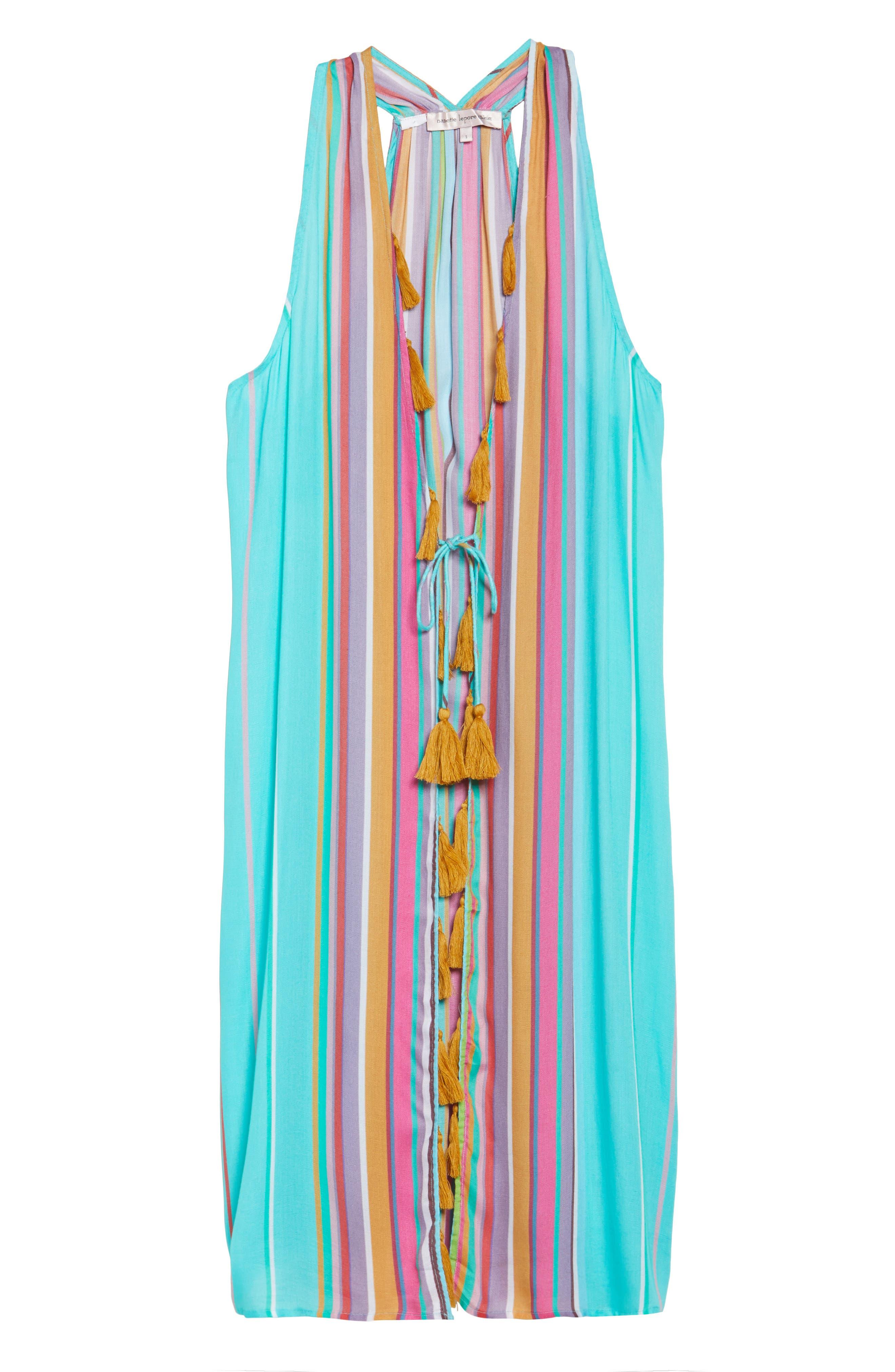 Sayulita Midi Vest Cover-Up,                             Alternate thumbnail 6, color,                             Multi