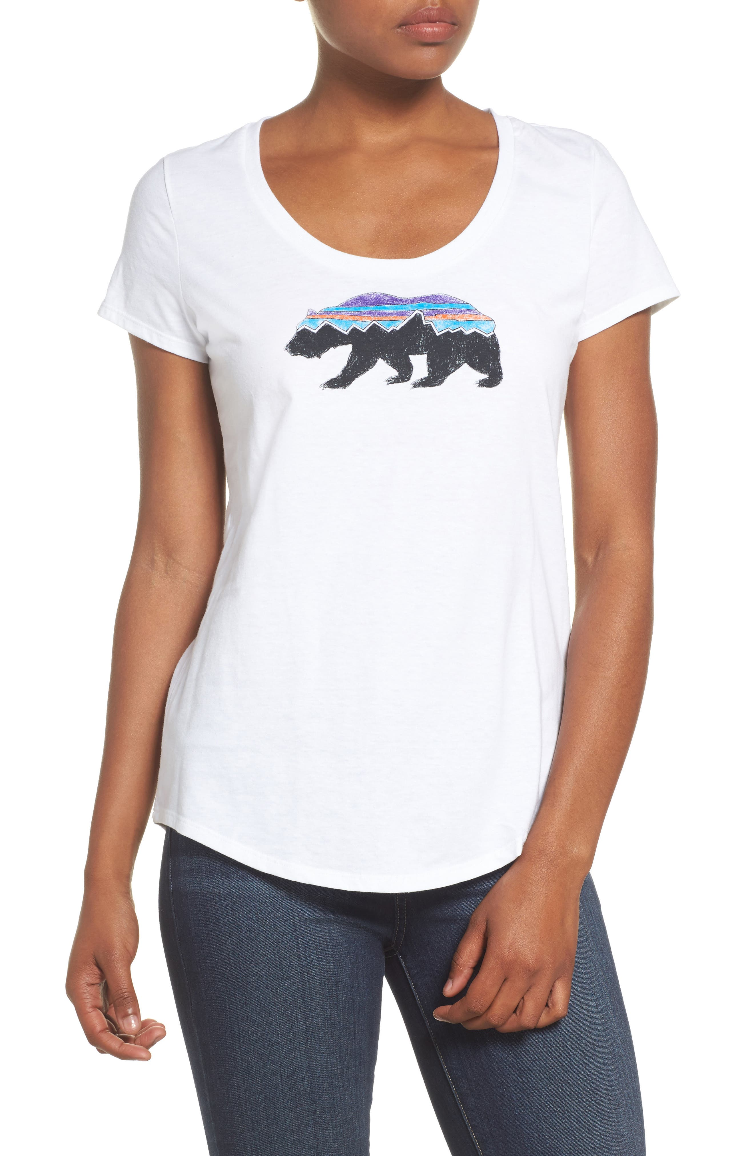 Fitz Roy Bear Tee,                         Main,                         color, White