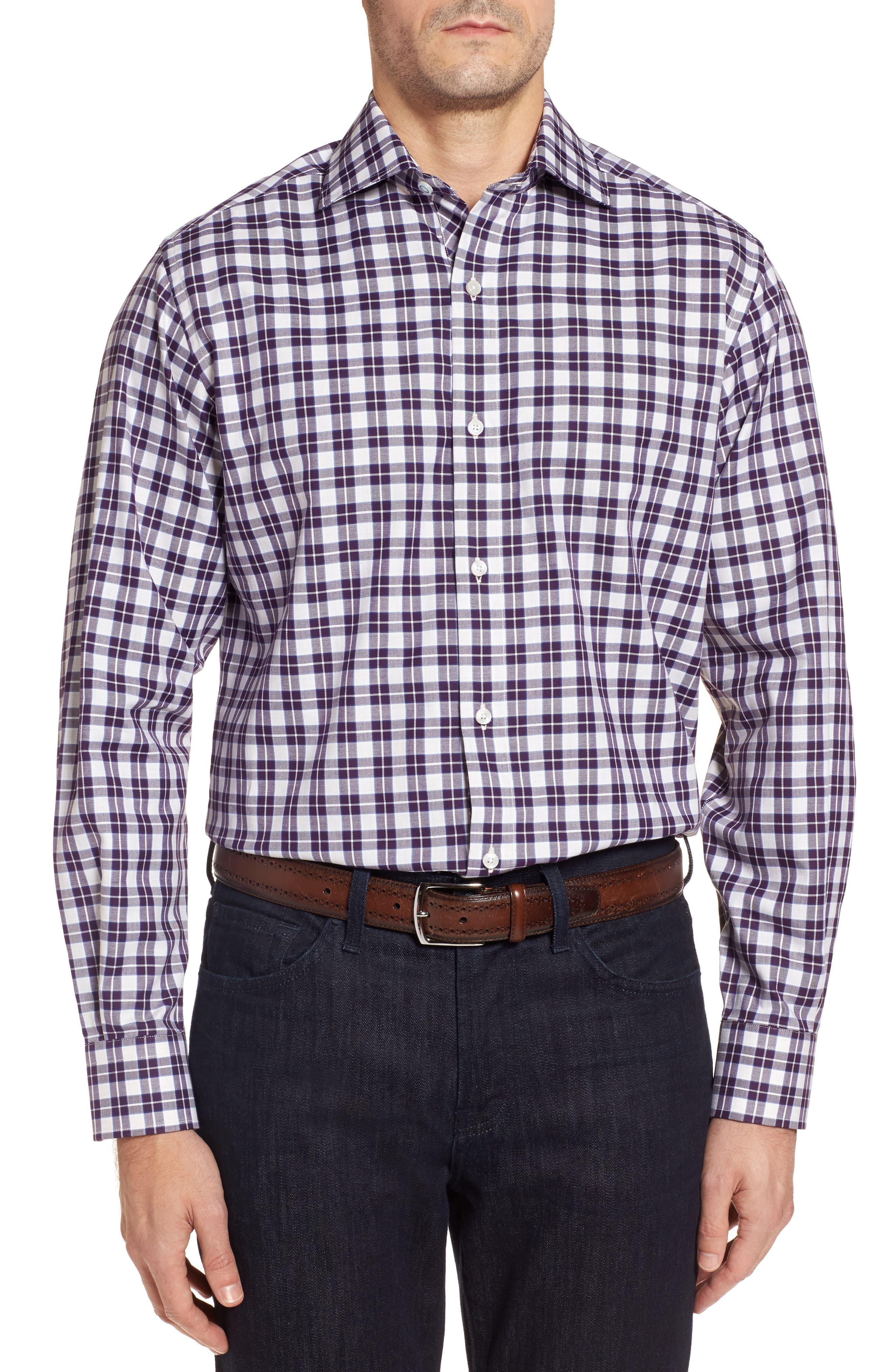 Main Image - TailorByrd Chalmette Check Twill Sport Shirt