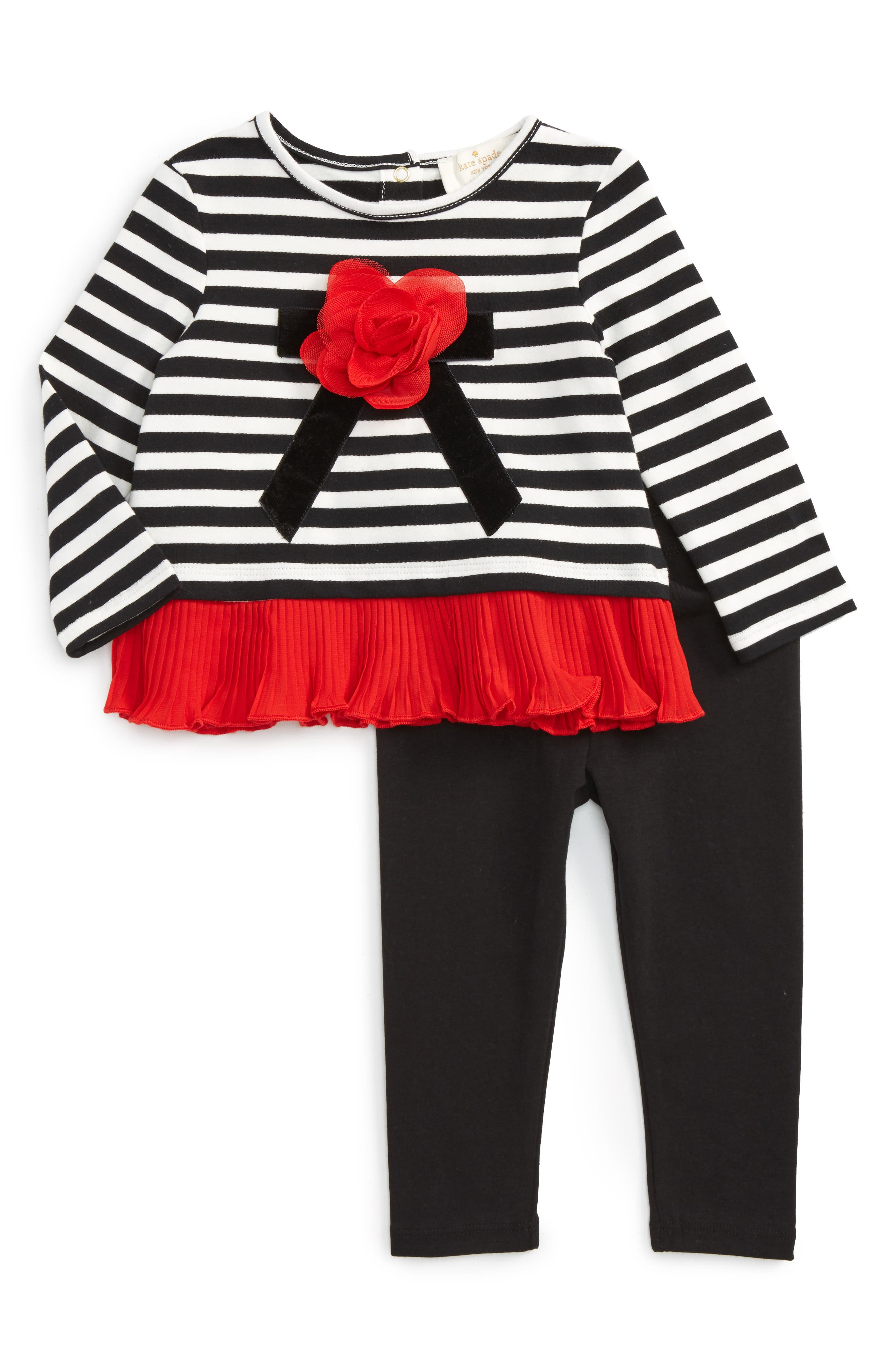 kate spade new york rosette top & leggings set (Baby Girls)