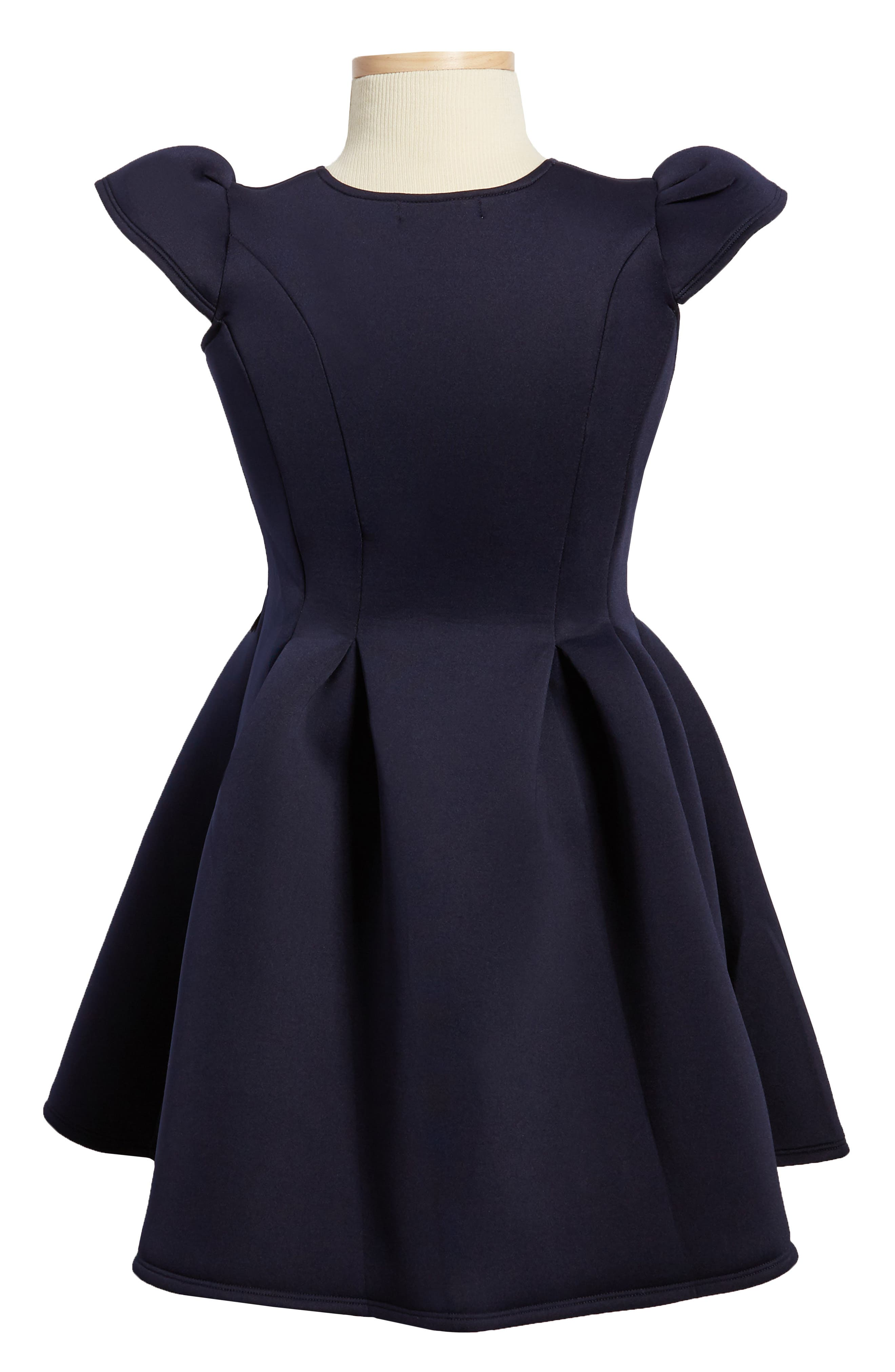 Bouquet Scuba Dress,                             Alternate thumbnail 2, color,                             Navy