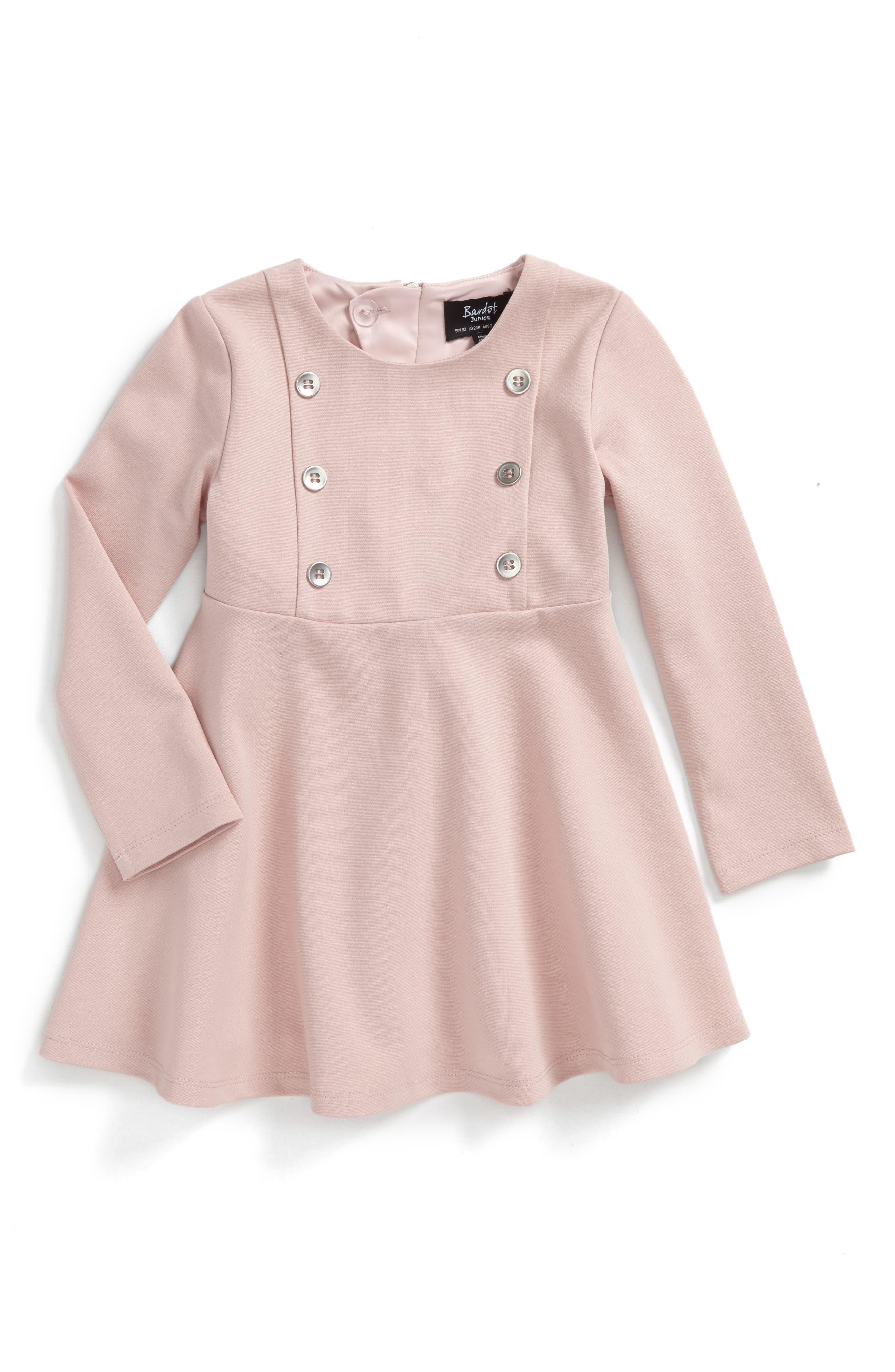 Alternate Image 1 Selected - Bardot Junior Button Front Dress (Baby Girls & Toddler Girls)