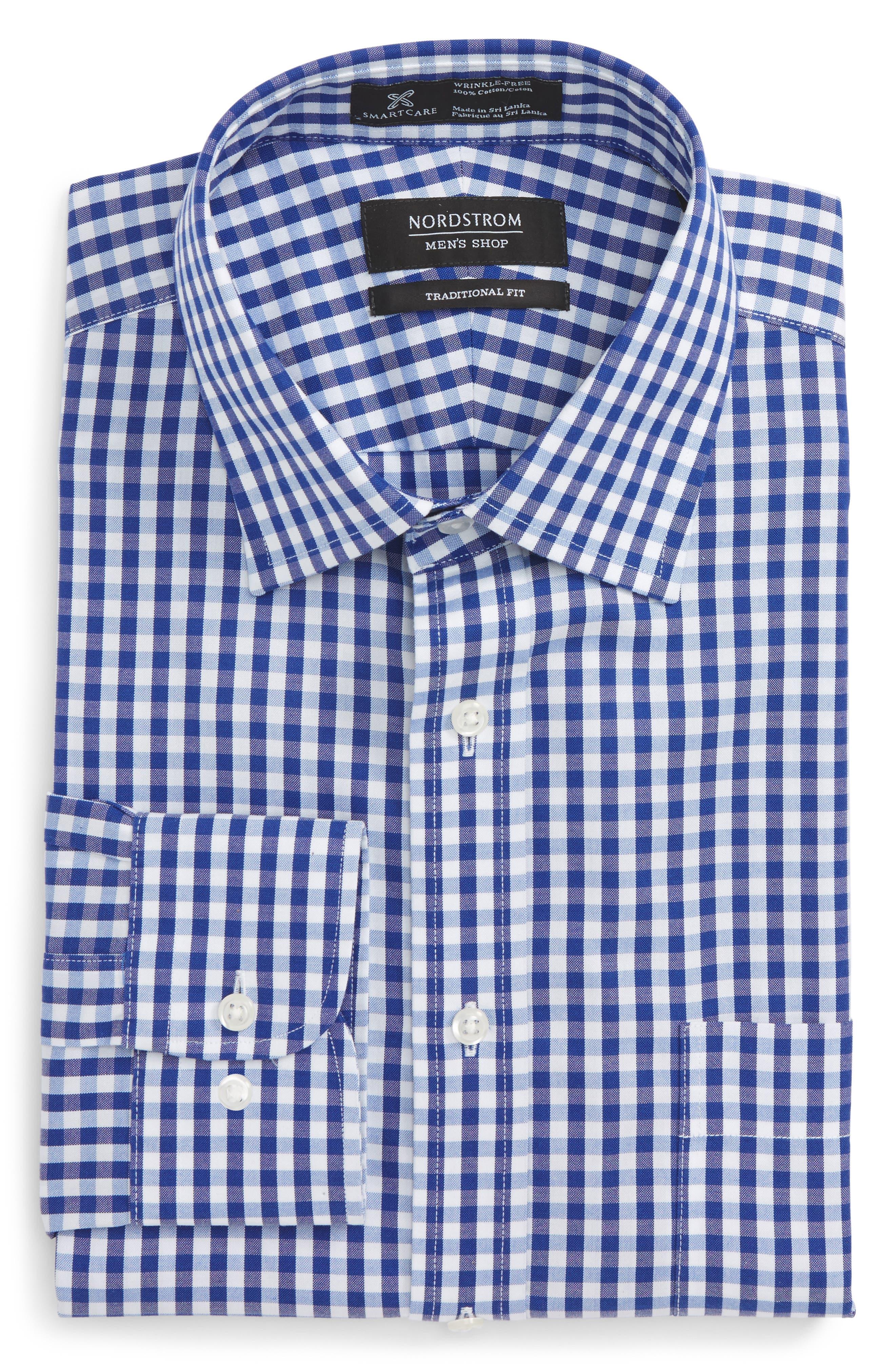 Alternate Image 5  - Nordstrom Men's Shop Smartcare™ Traditional Fit Check Dress Shirt