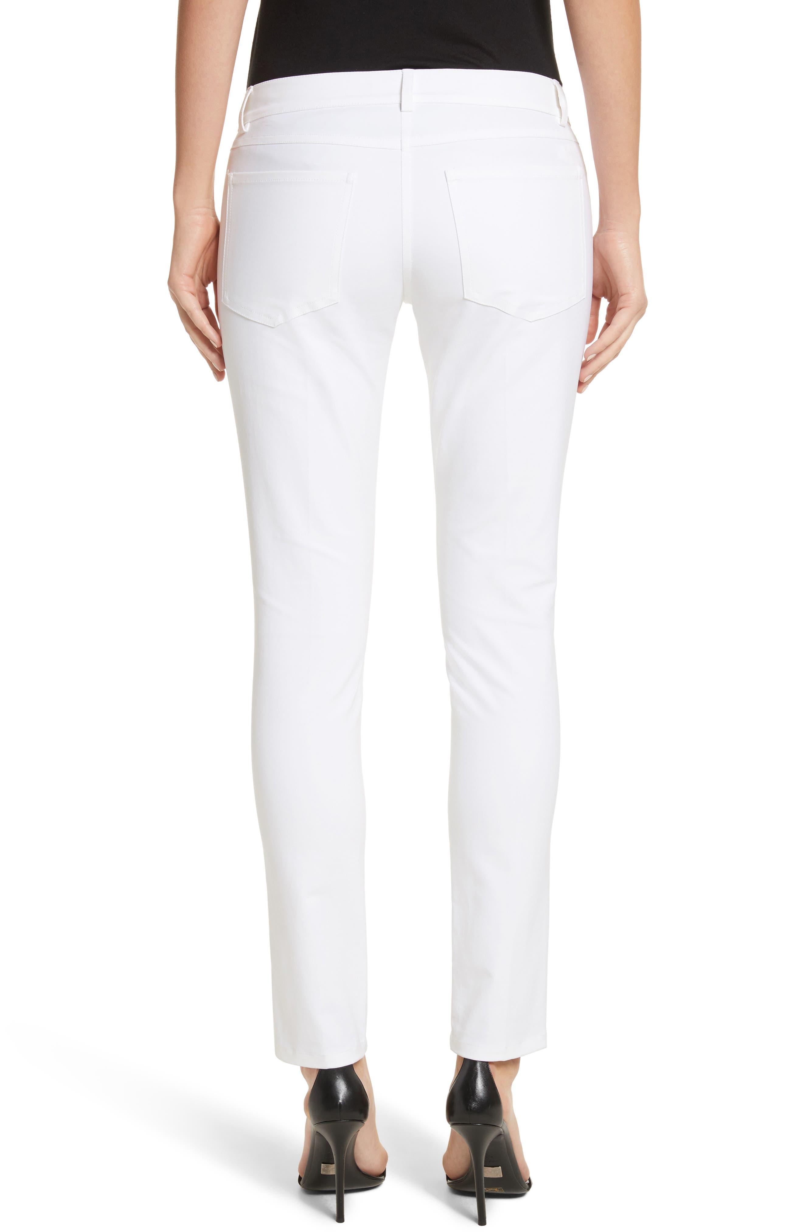 Alternate Image 2  - Michael Kors Samantha Skinny Jeans (Optic White)