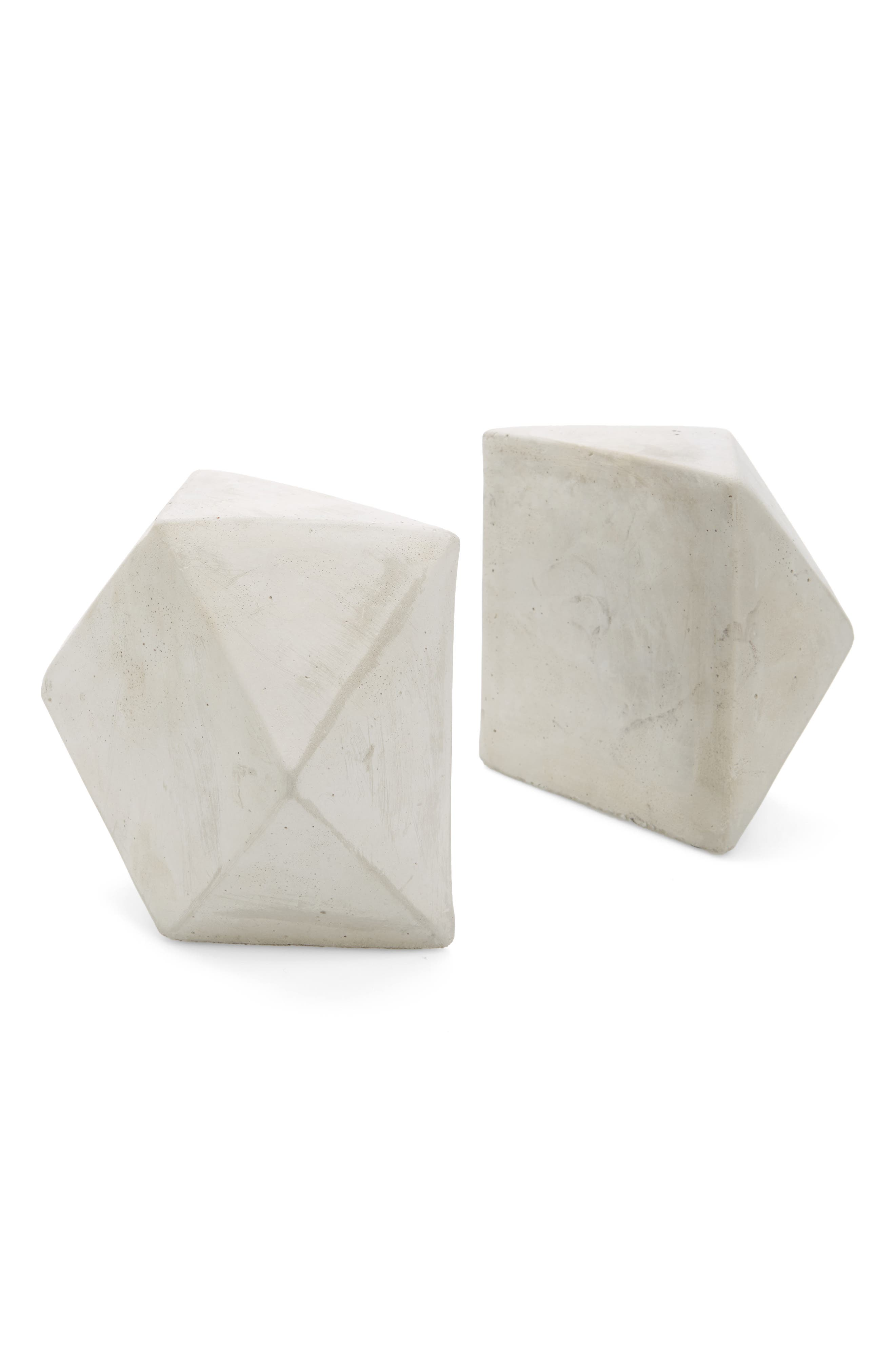 Geo Cement Bookends,                         Main,                         color, Cement