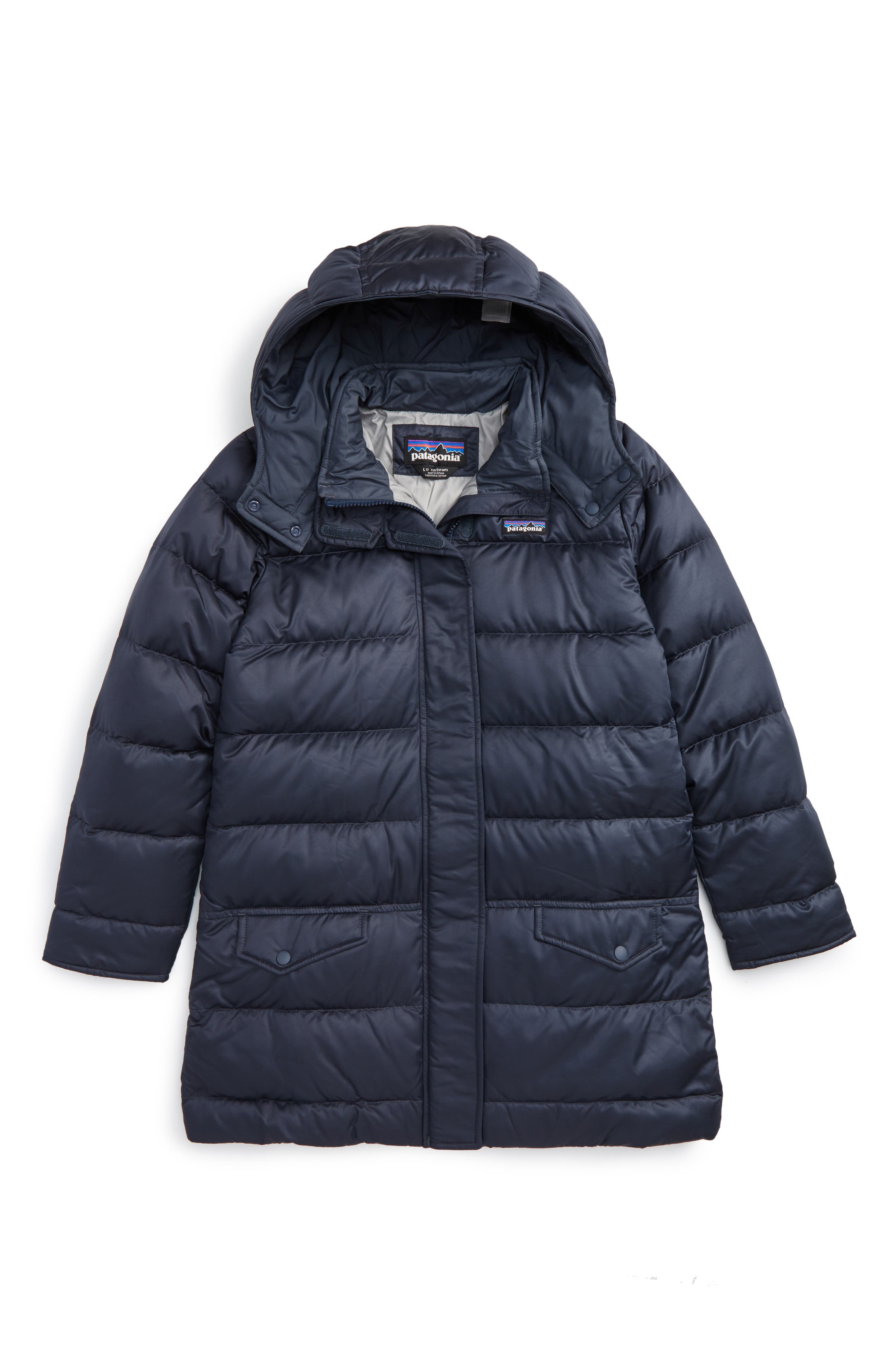 Patagonia 'Down For Fun' Water Repellent Coat (Little Girls & Big Girls)