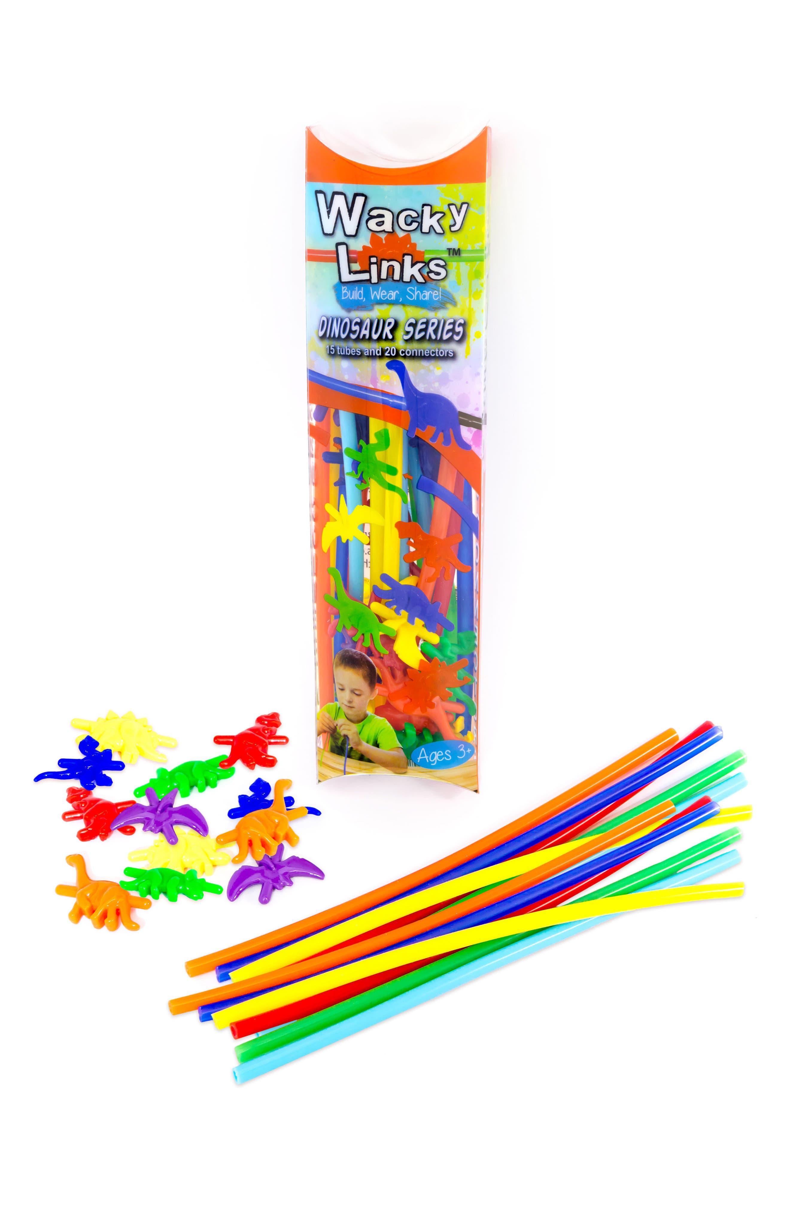 Wacky Links 35-Piece Dinosaur Series Linking Toy Kit