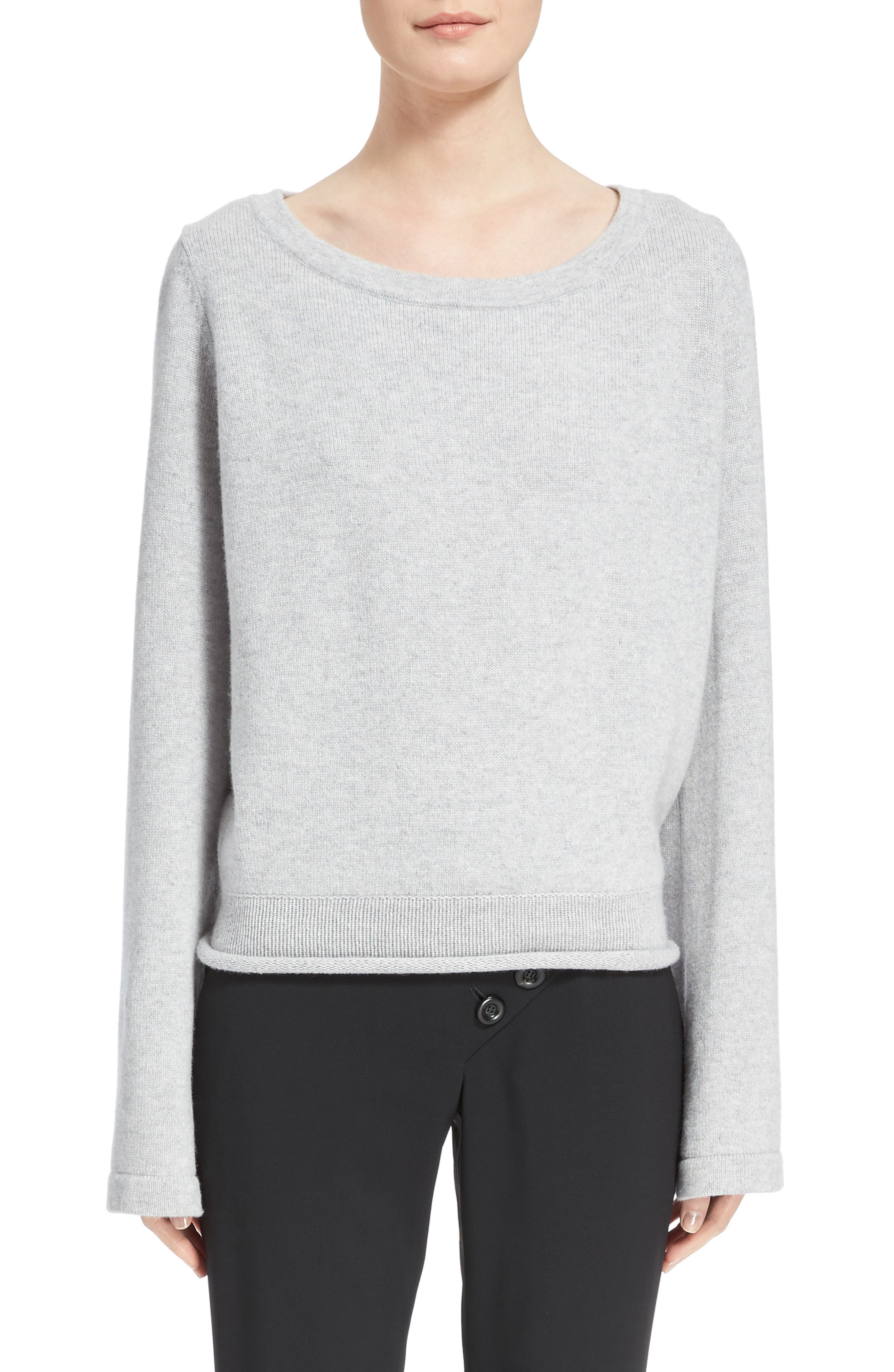 Iconic Cashmere Sweater,                             Main thumbnail 1, color,                             Cozy Grey