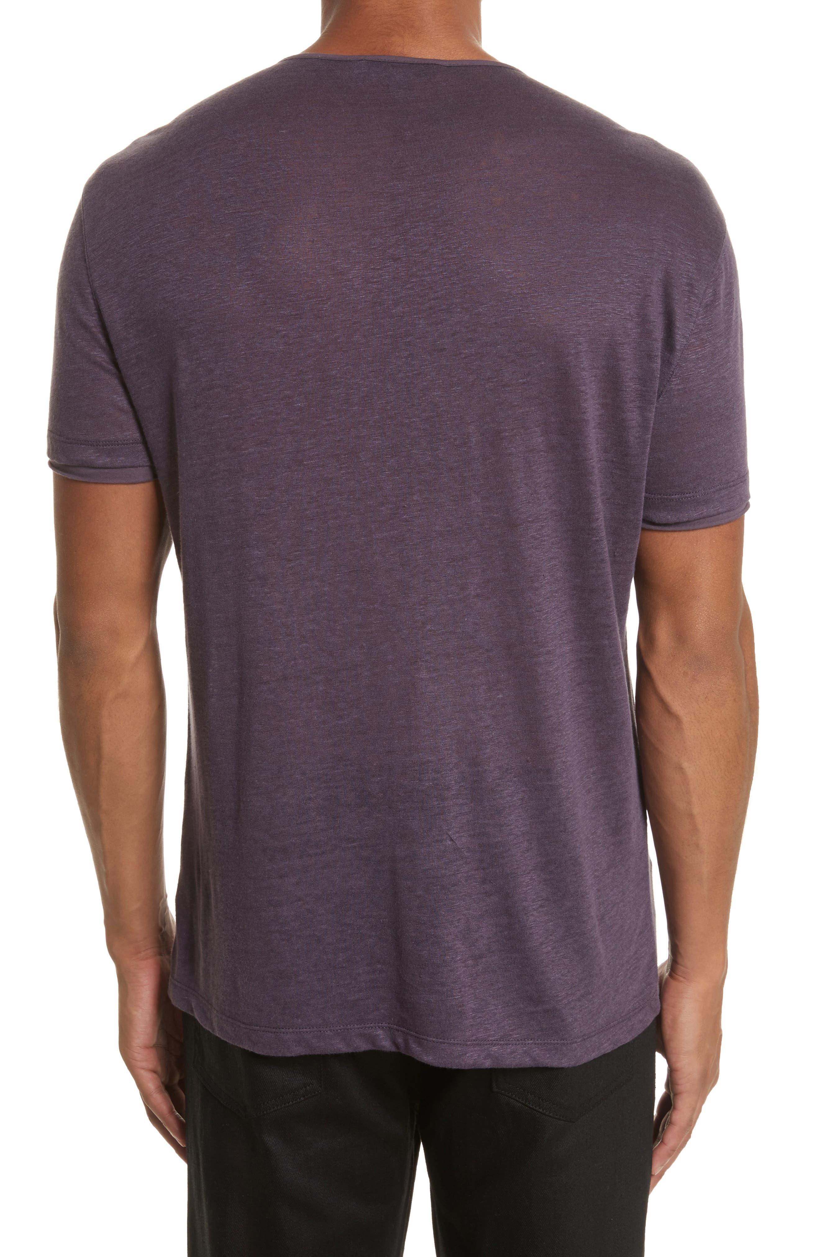 Alternate Image 2  - John Varvatos Collection Linen Henley T-Shirt