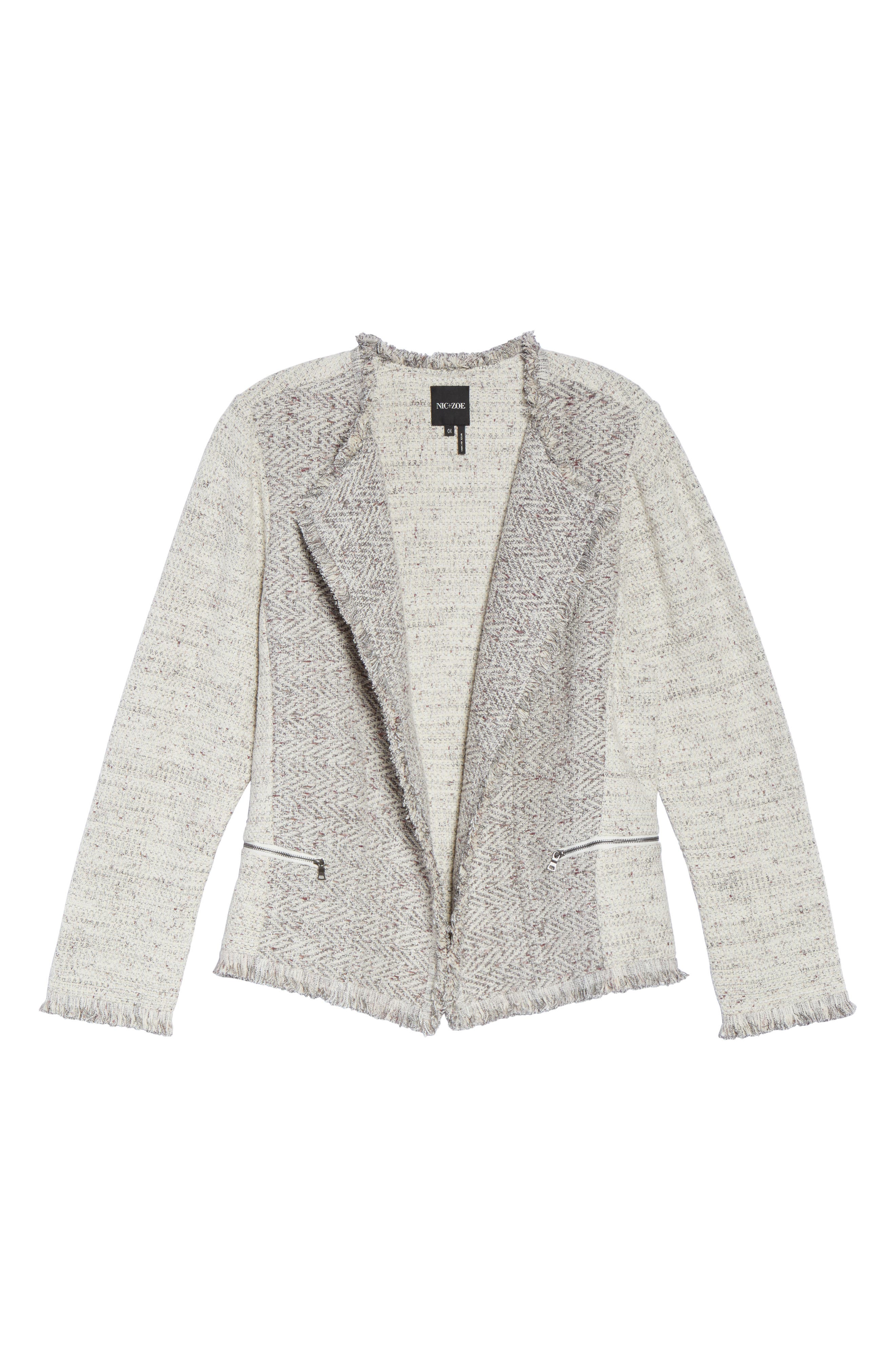 Chilled Tweed Jacket,                             Alternate thumbnail 6, color,                             Grey Multi