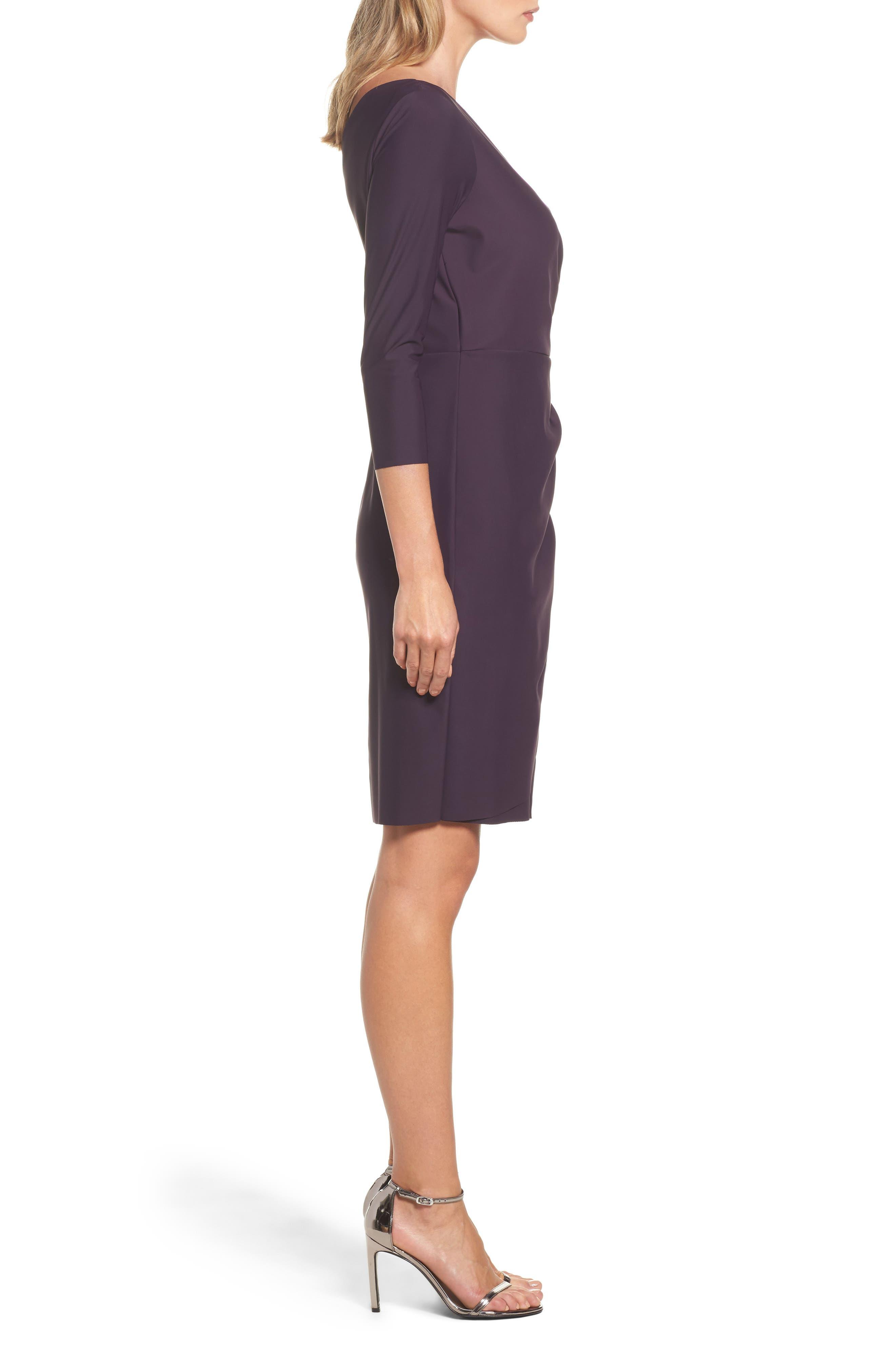 Alternate Image 3  - Alex Evenings Embellished Ruched Sheath Dress (Regular & Petite)