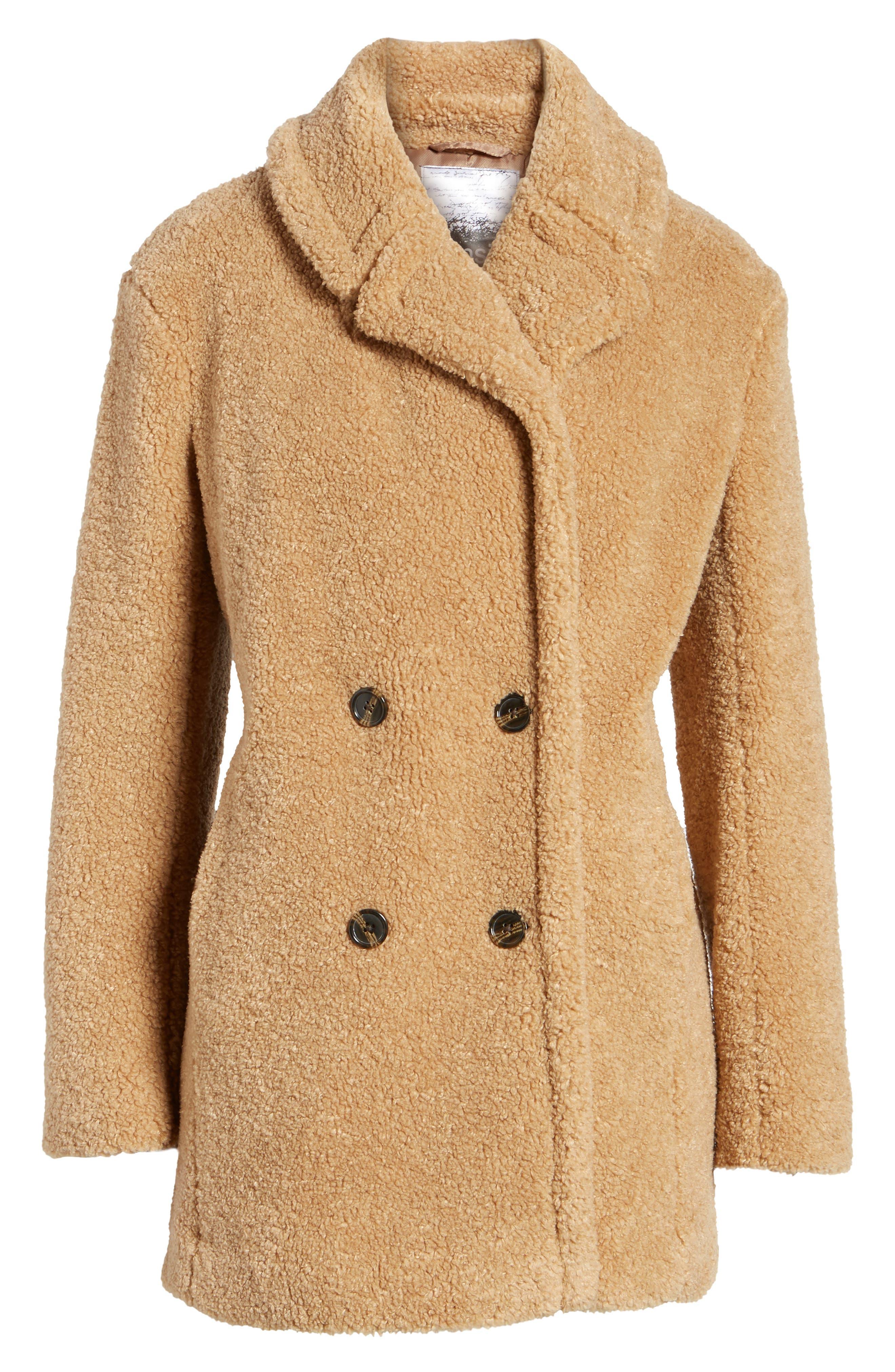 Alternate Image 7  - kensie Teddy Bear Notch Collar Faux Fur Coat