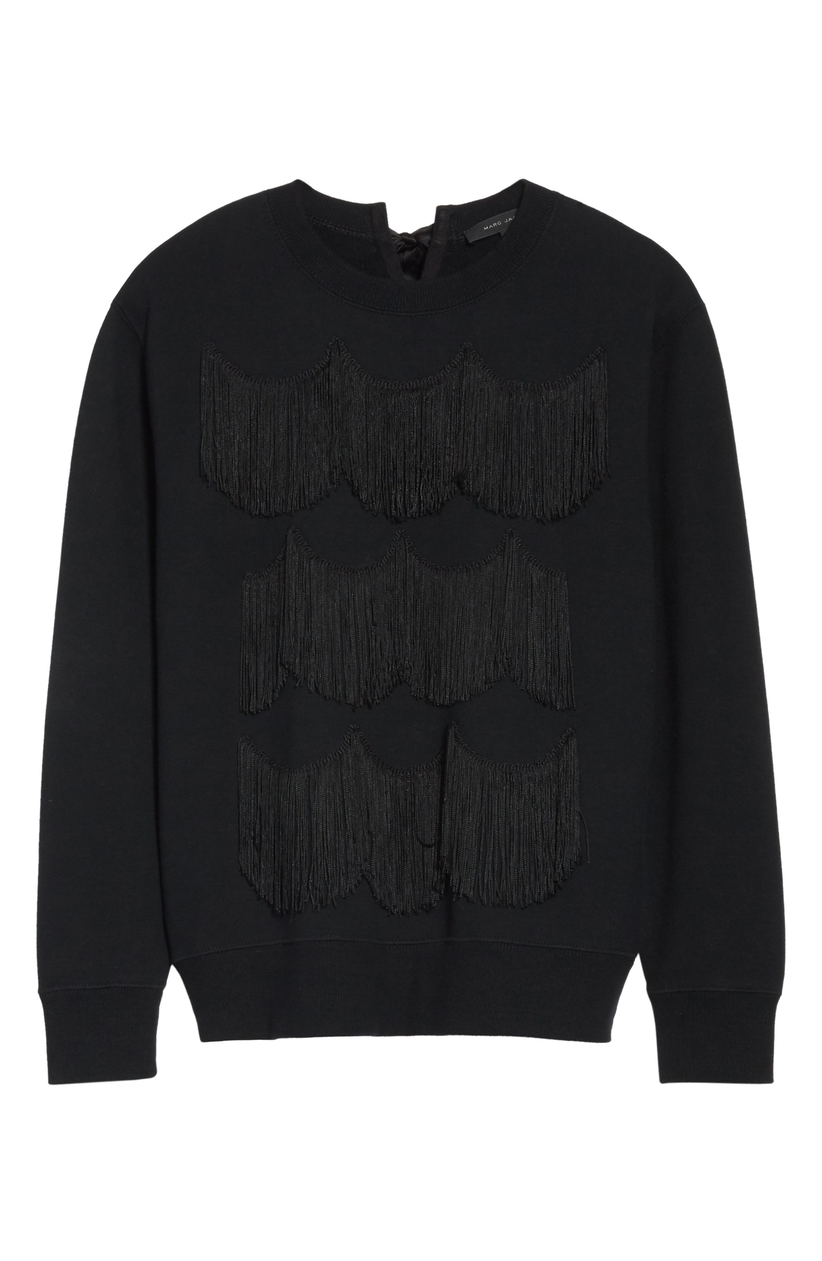 Alternate Image 6  - MARC JACOBS Fringe Cotton Sweatshirt