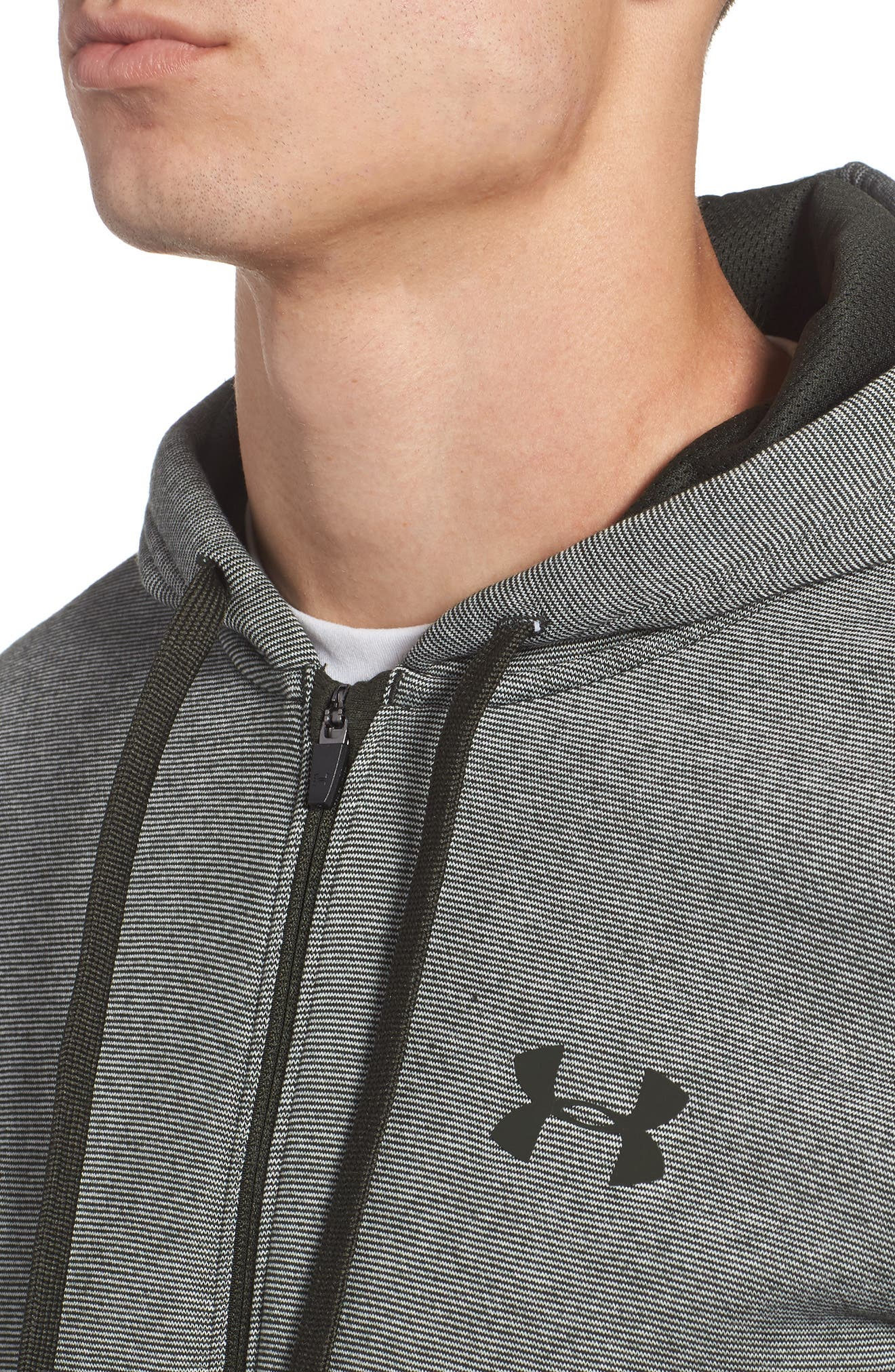 Alternate Image 4  - Under Armour Rival Zip Hoodie