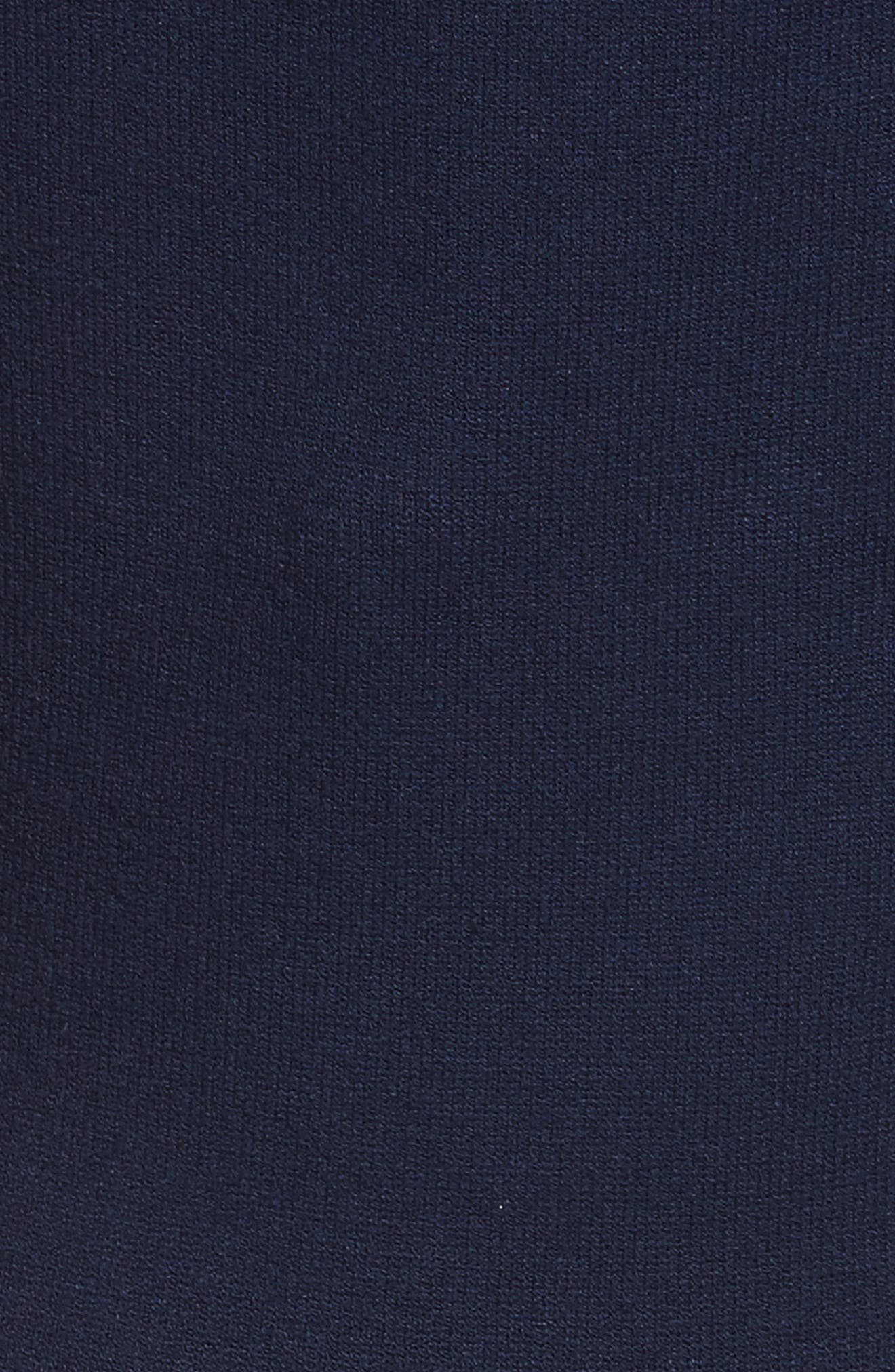 Ballet Neck Midi Dress,                             Alternate thumbnail 5, color,                             Navy
