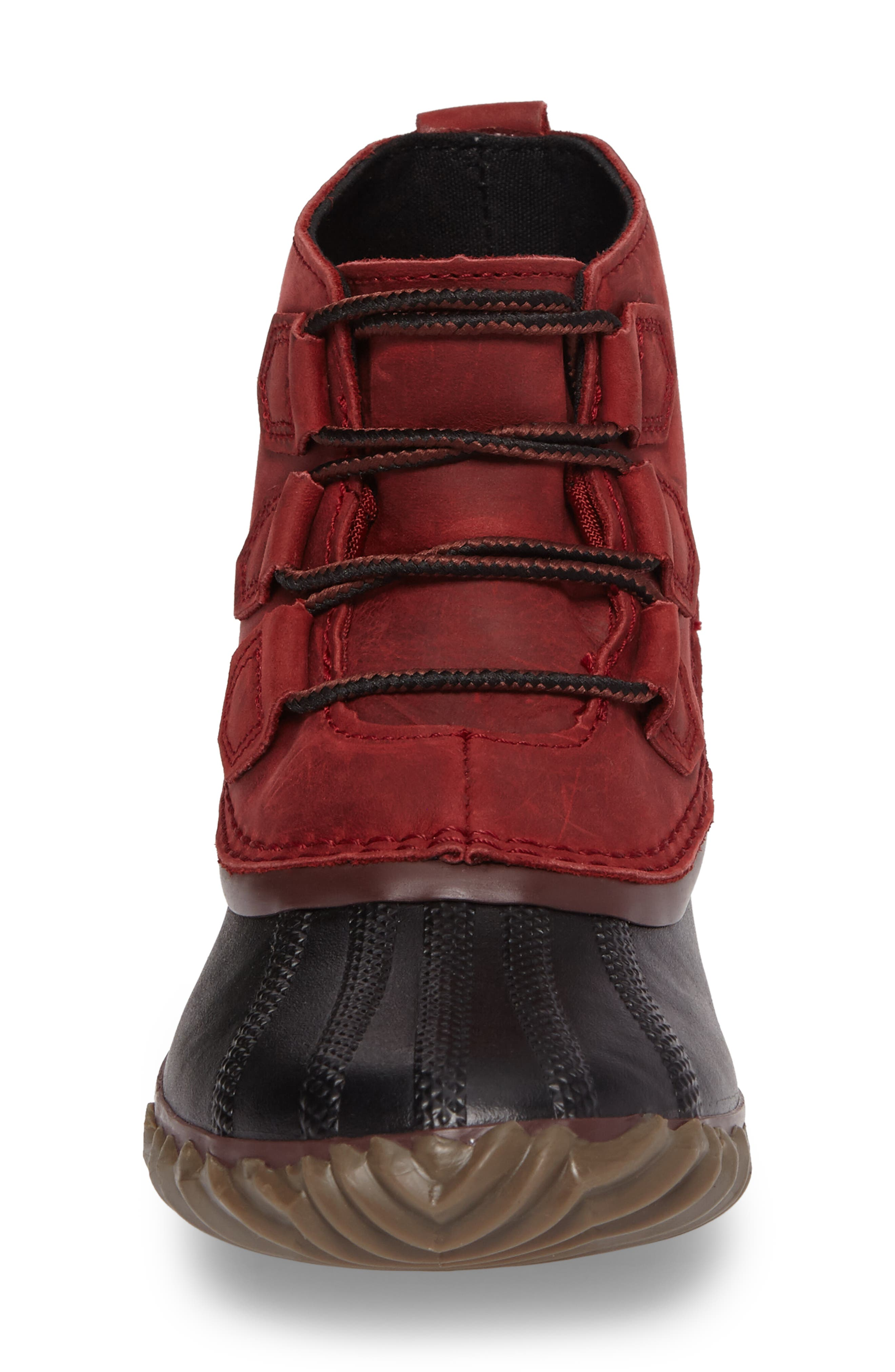 'Out N About' Leather Boot,                             Alternate thumbnail 4, color,                             Red Element