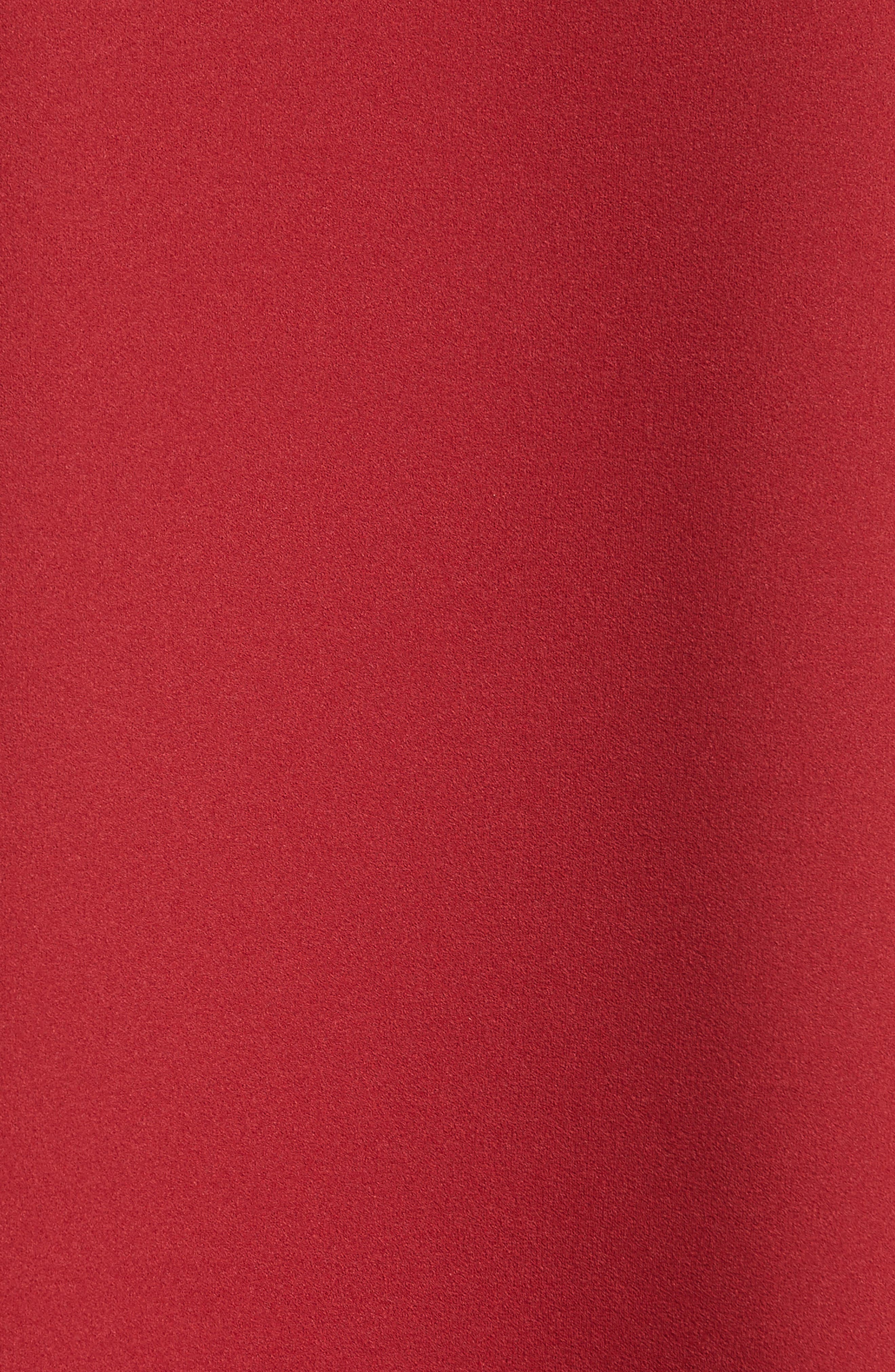Ruffle Sleeve Stretch Crepe Top,                             Alternate thumbnail 5, color,                             Burt Red