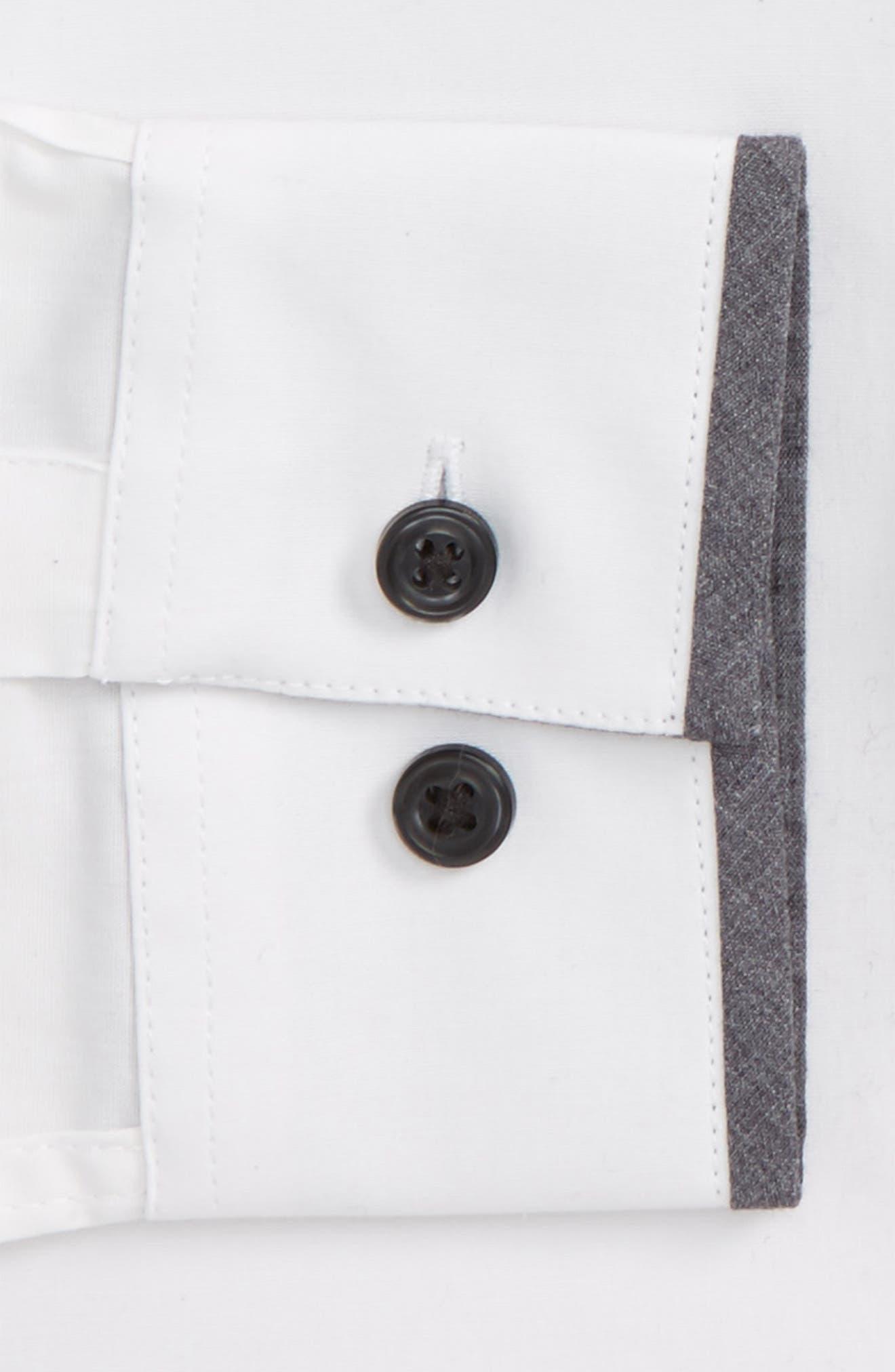 Alternate Image 4  - Topman Muscle Fit Contrast Trim Smart Shirt