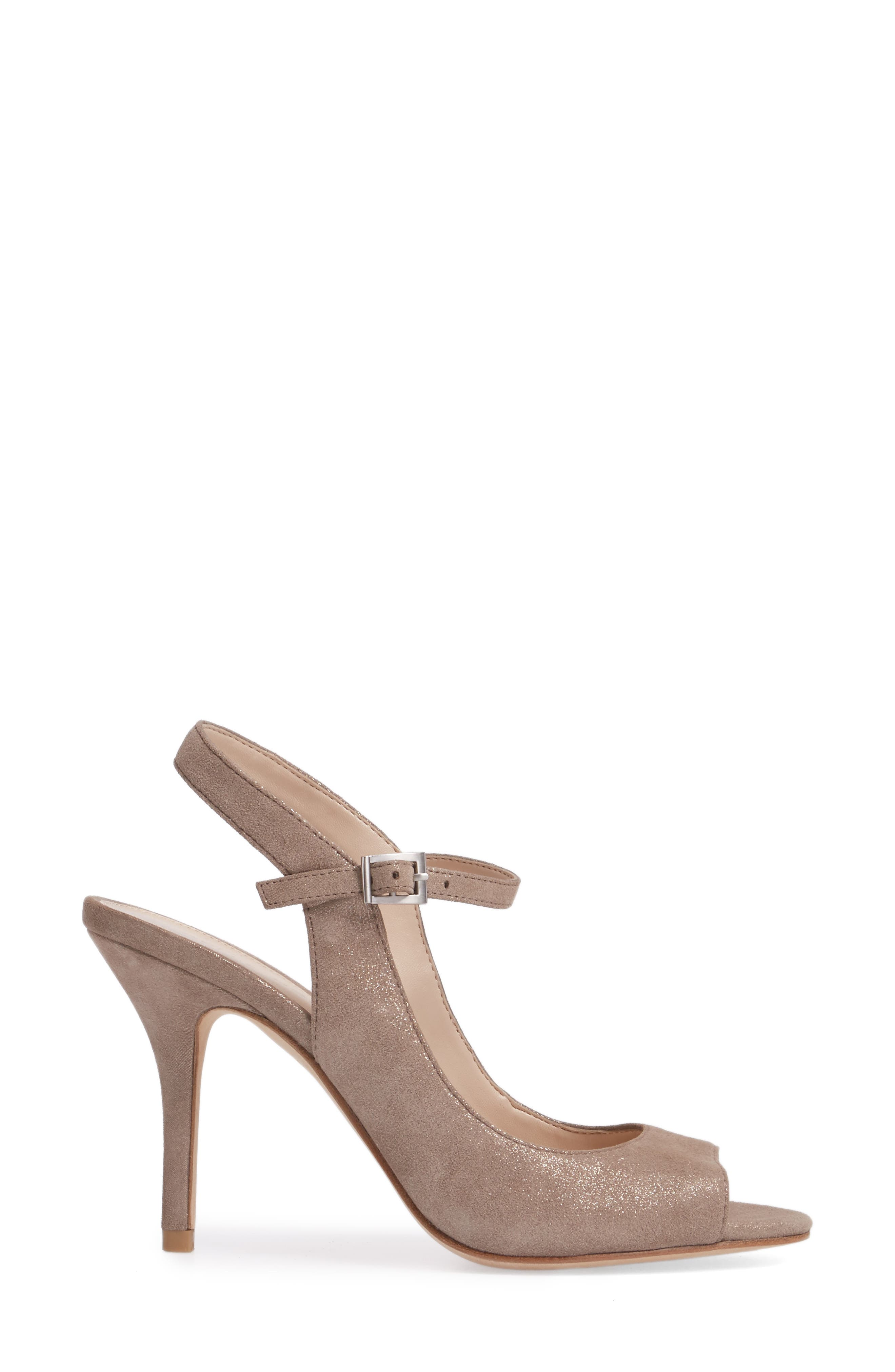 Kinsey Sandal,                             Alternate thumbnail 3, color,                             Taupe Leather