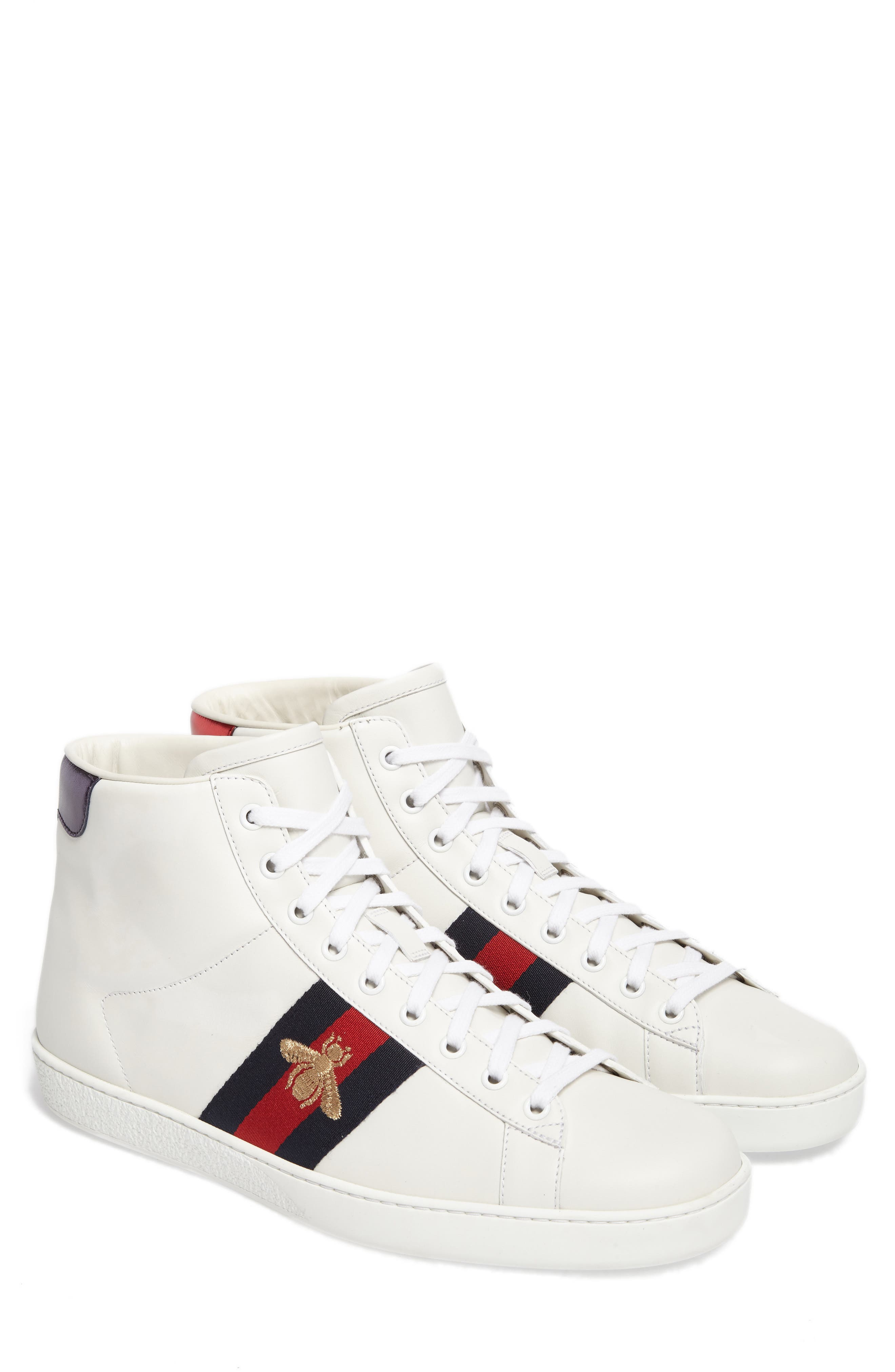 Alternate Image 1 Selected - Gucci New Ace High Bee Sneaker (Men)