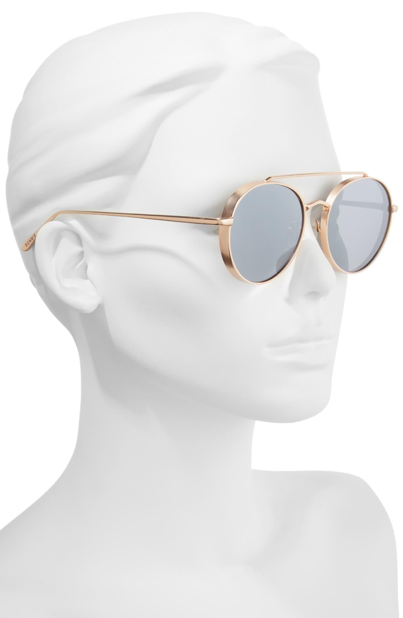 Olympic 53mm Polarized Aviator Sunglasses,                             Alternate thumbnail 4, color,                             Silver