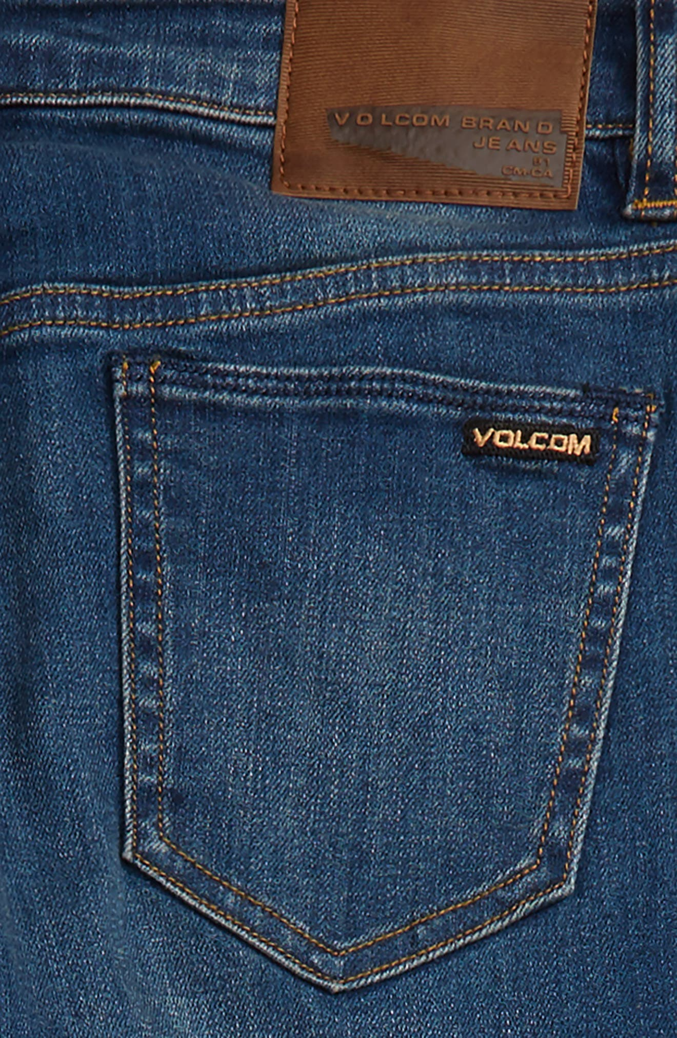 Alternate Image 3  - Volcom Vorta Slim Fit Jeans (Big Boys)