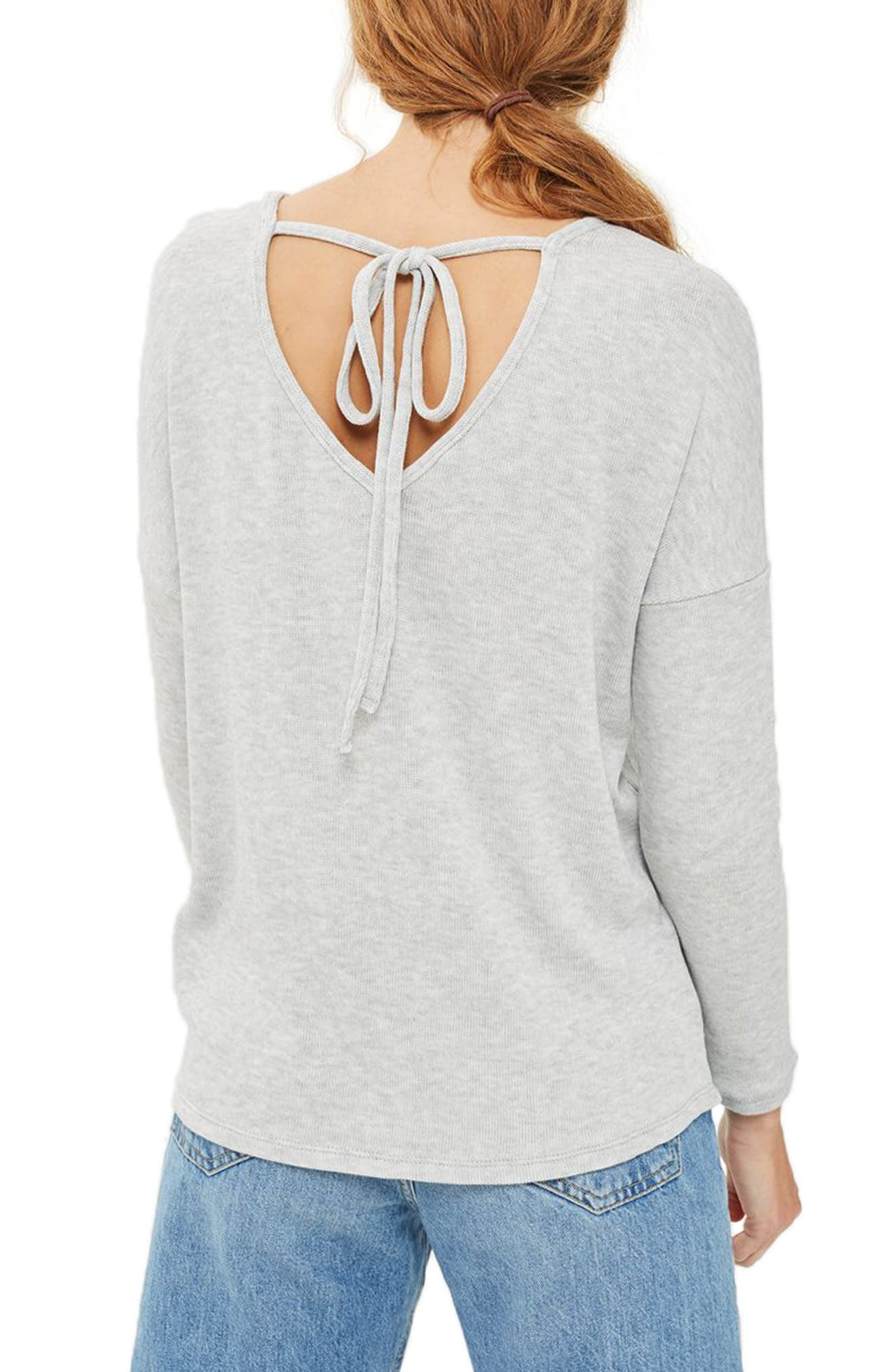 Alternate Image 3  - Topshop Tie Back Sweater