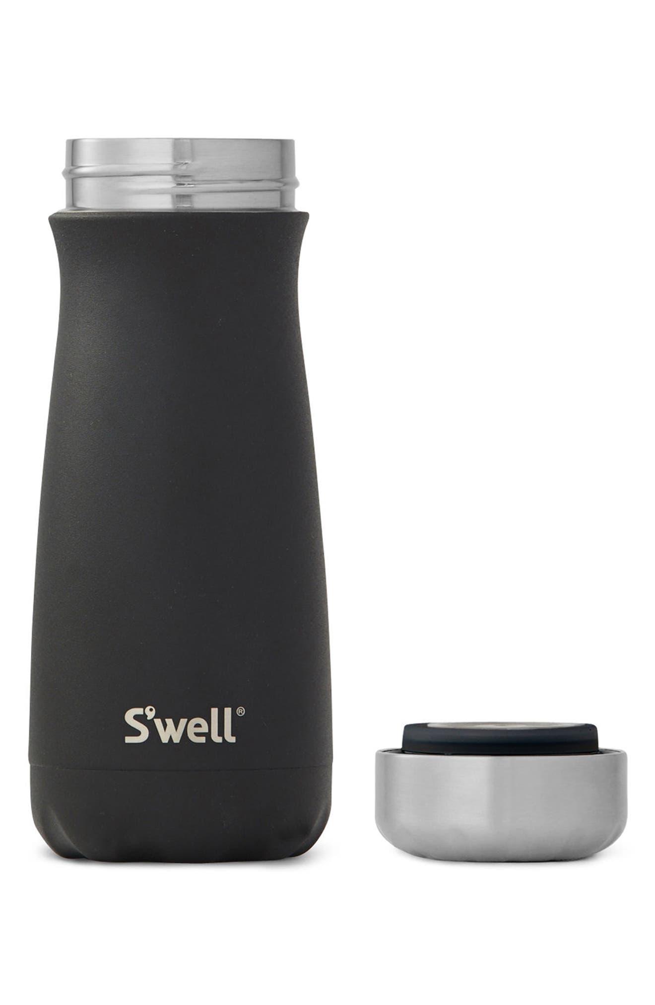 Traveler Onyx Insulated Stainless Steel Water Bottle,                             Alternate thumbnail 2, color,                             Onyx