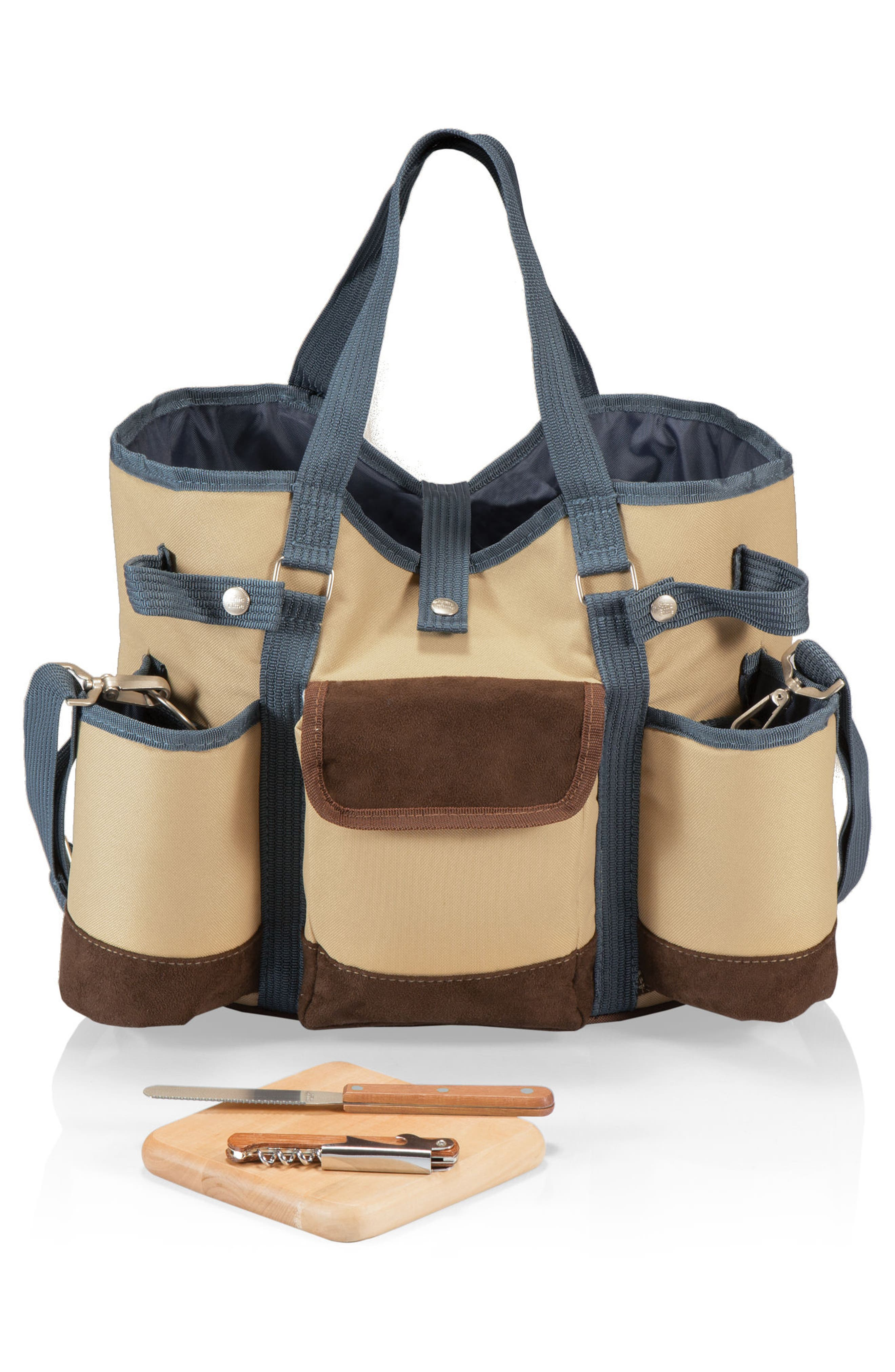 Wine Country Wine & Cheese Tote,                             Alternate thumbnail 4, color,                             Tan
